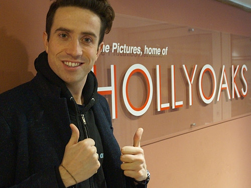 Nick Grimshaw Visits Hollyoaks