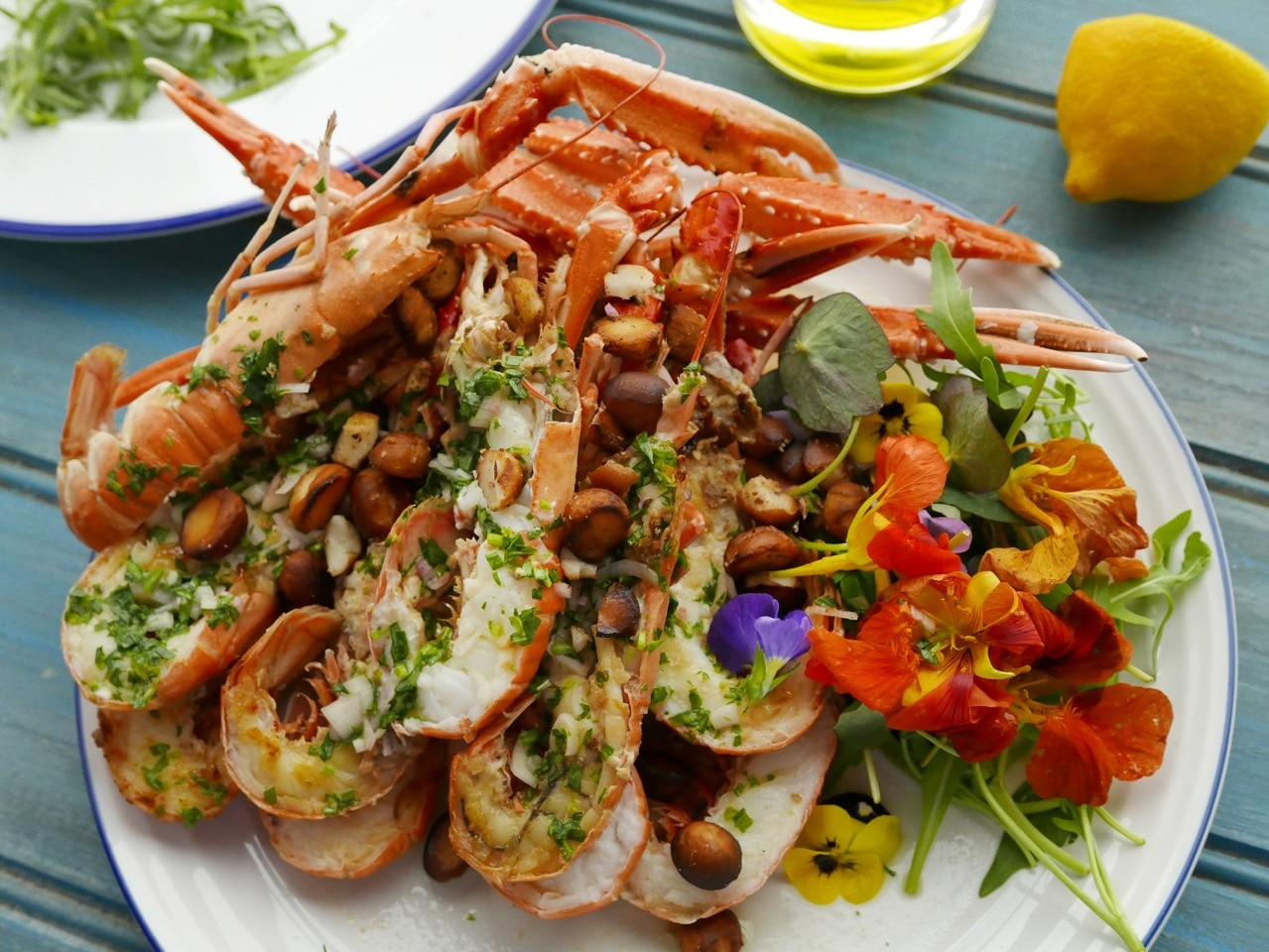Grilled Langoustines with a Cornish Pastis & Olive Oil Dressing