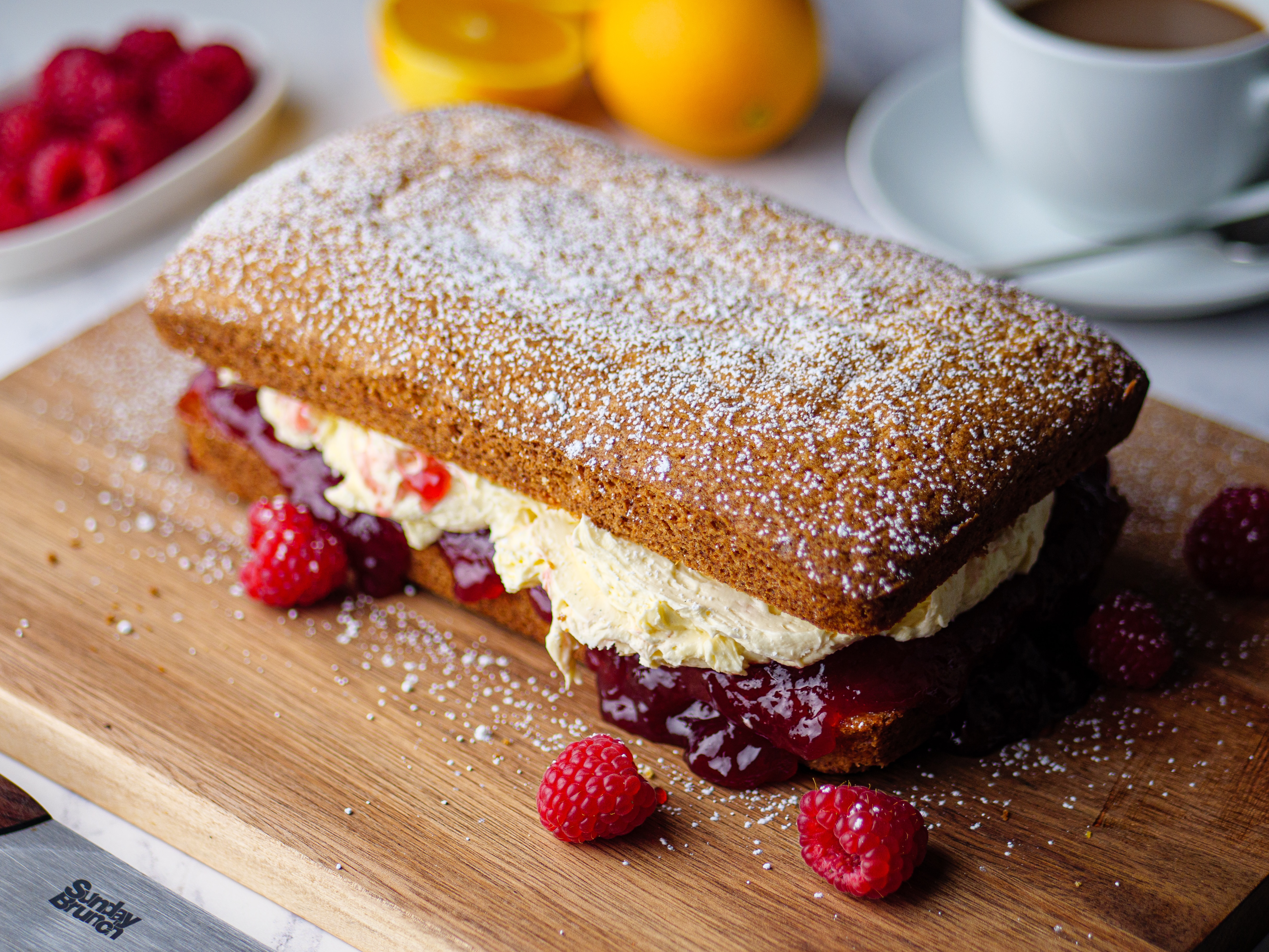 Madeira Cake with German Buttercream