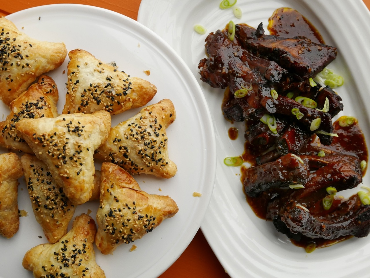 Jeremy Pang's BBQ Hoisin and Cola Ribs with BBQ Pork Puffs