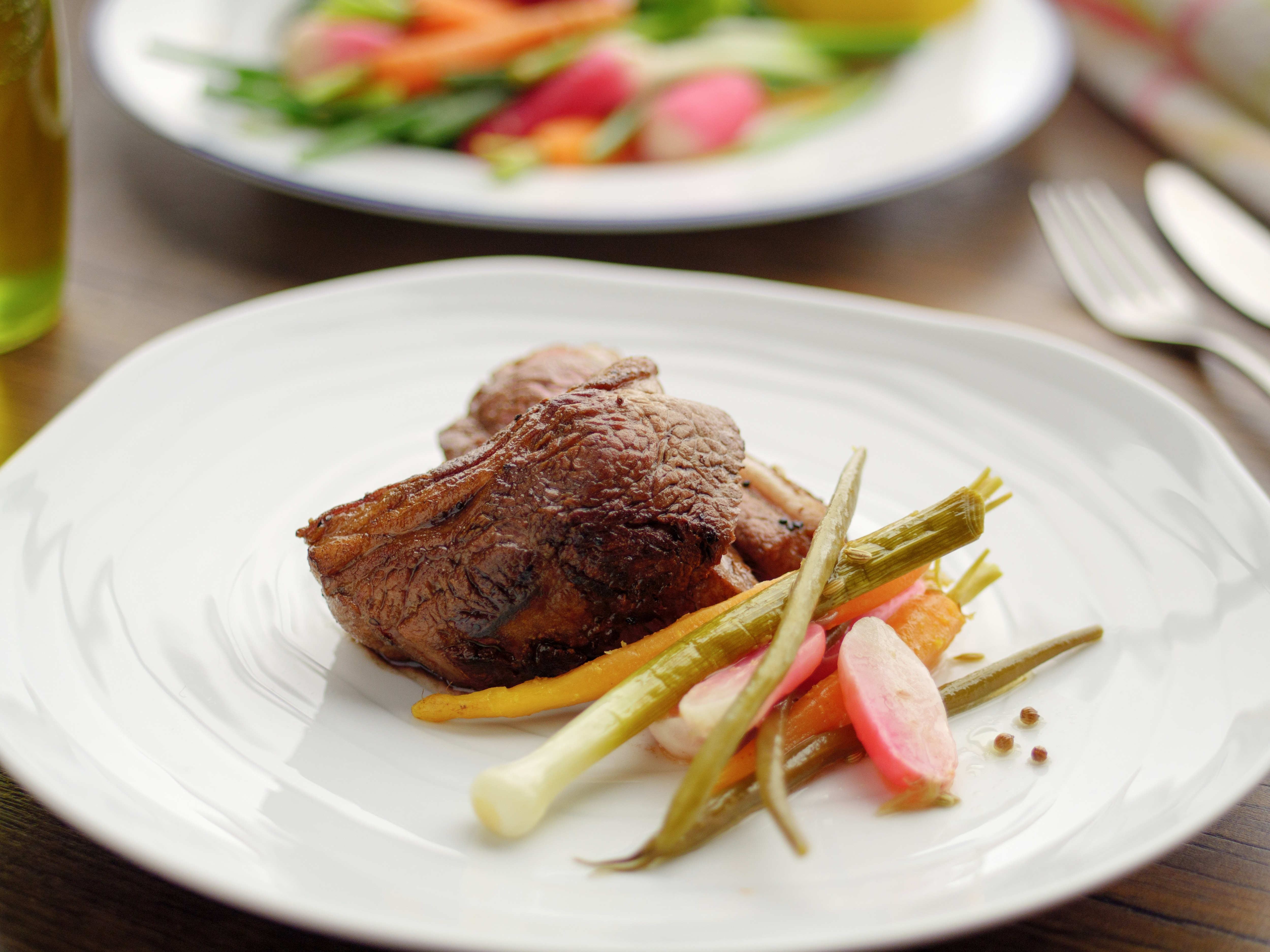 Spring Lamb with Pickled Veg