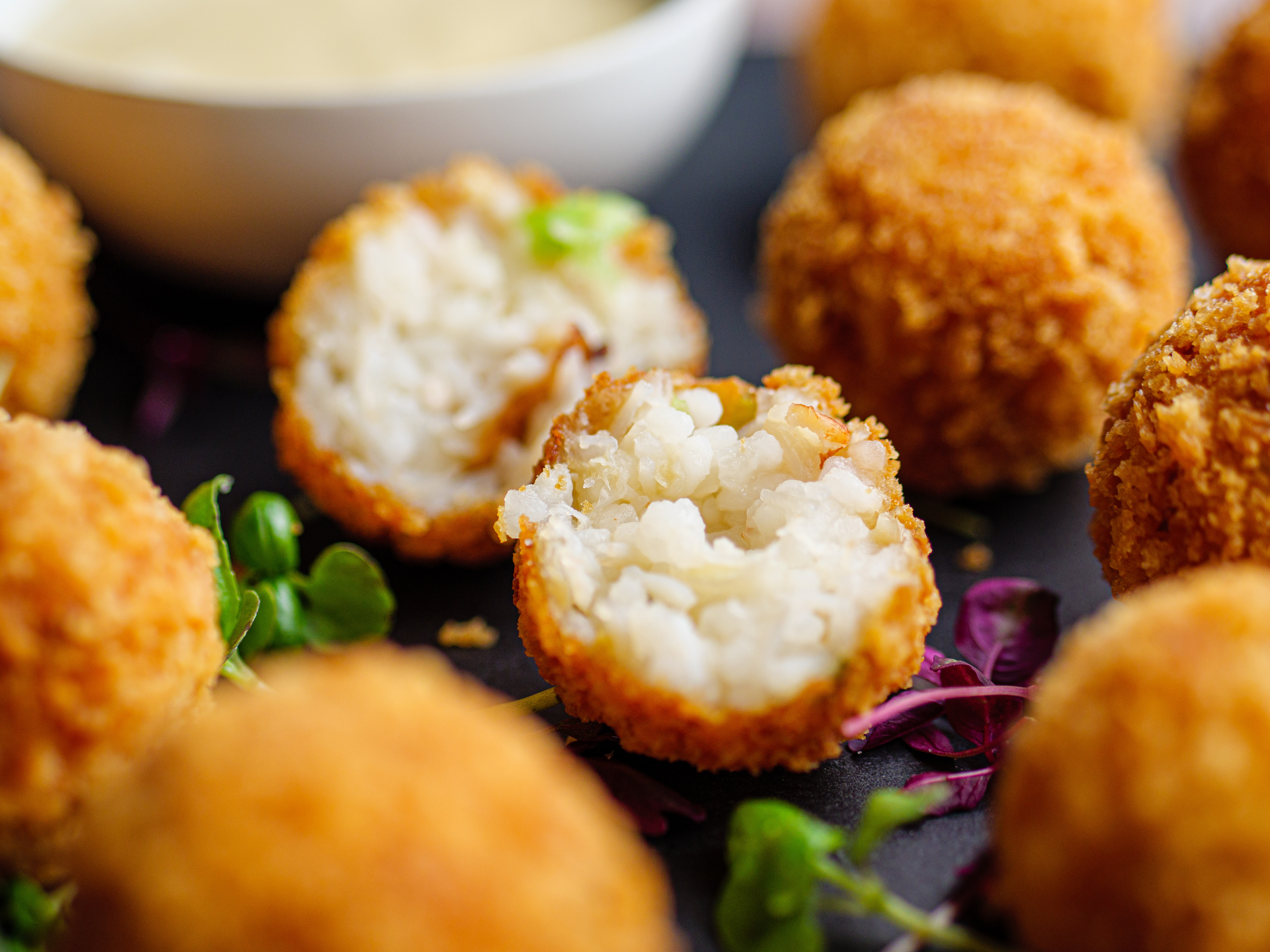 Sticky Rice and Crab Fritters