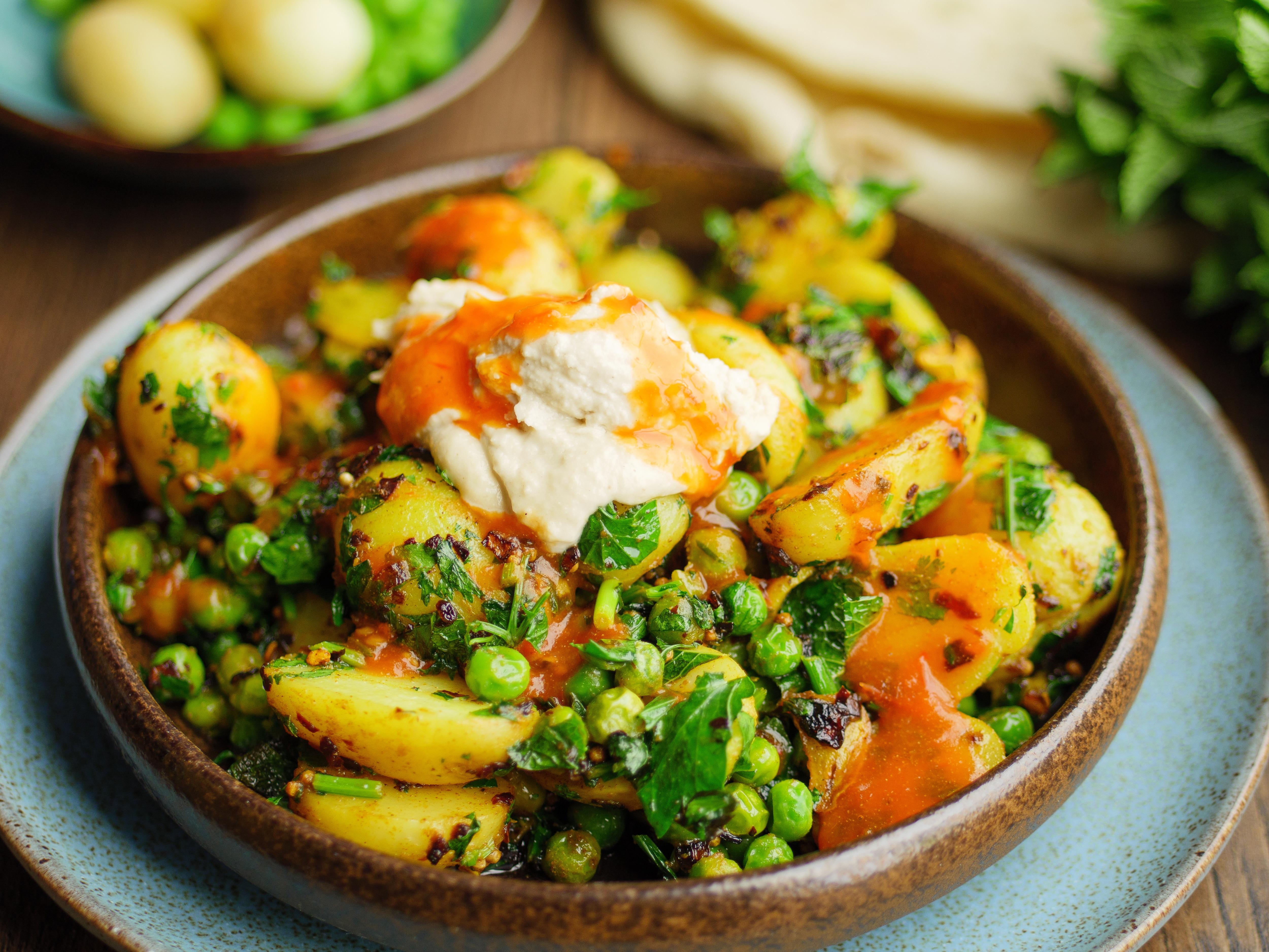 Crispy Potato And Peas
