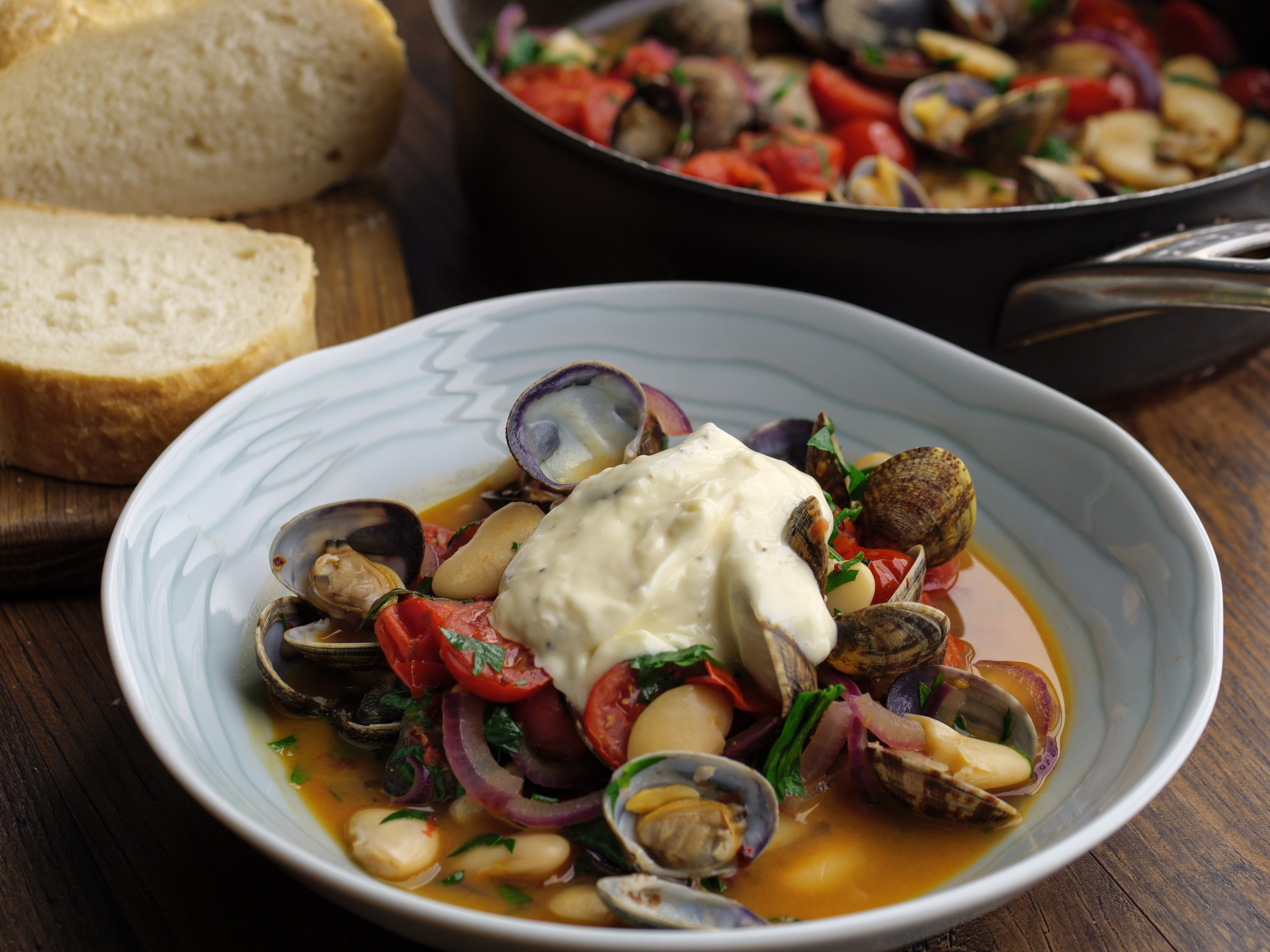 Clams With Butter Beans