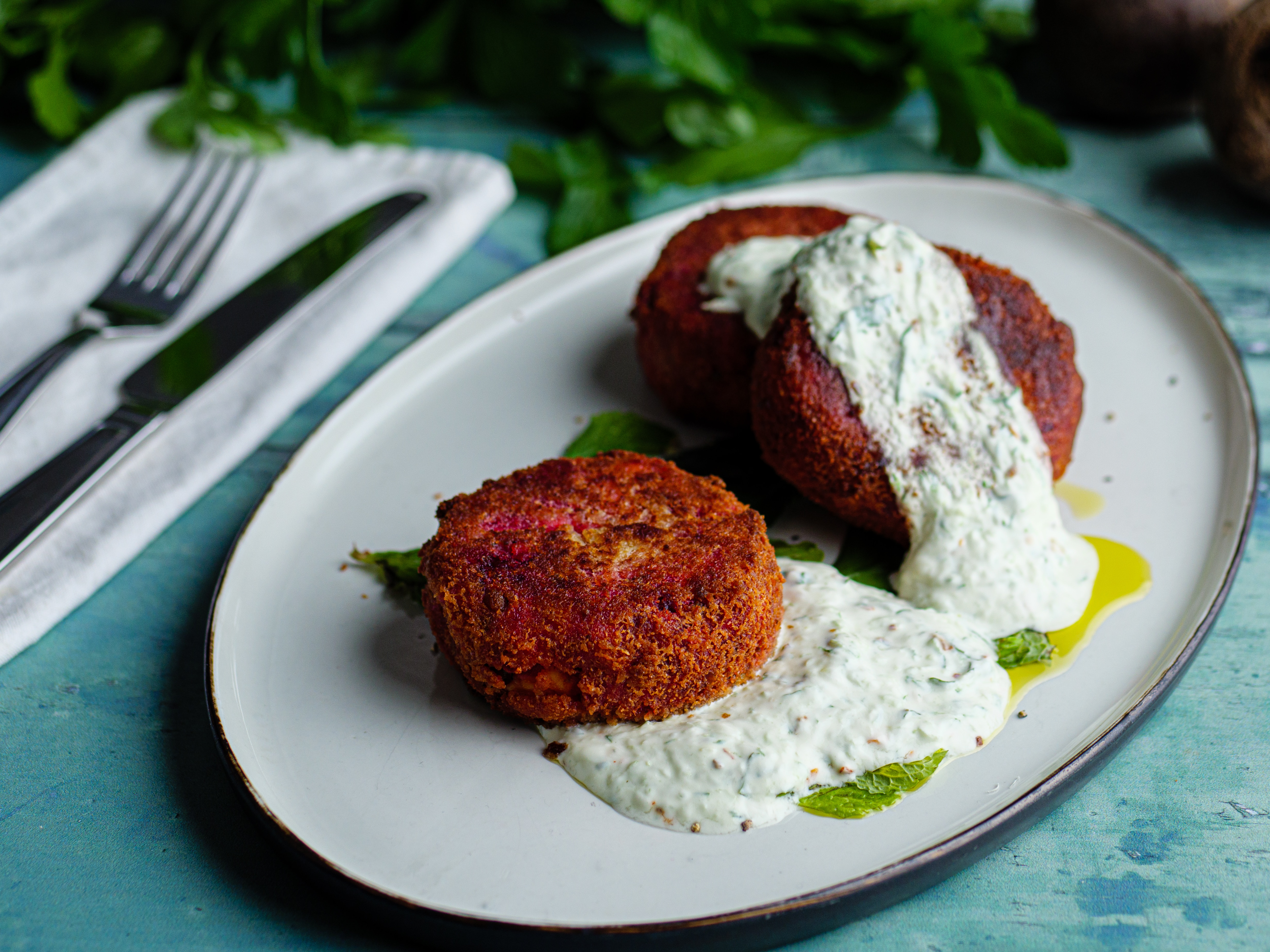 Beetroot and Feta Cakes