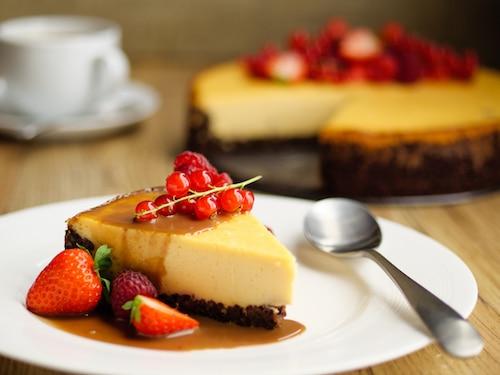 Vanilla Custard & Chocolate Cheesecake