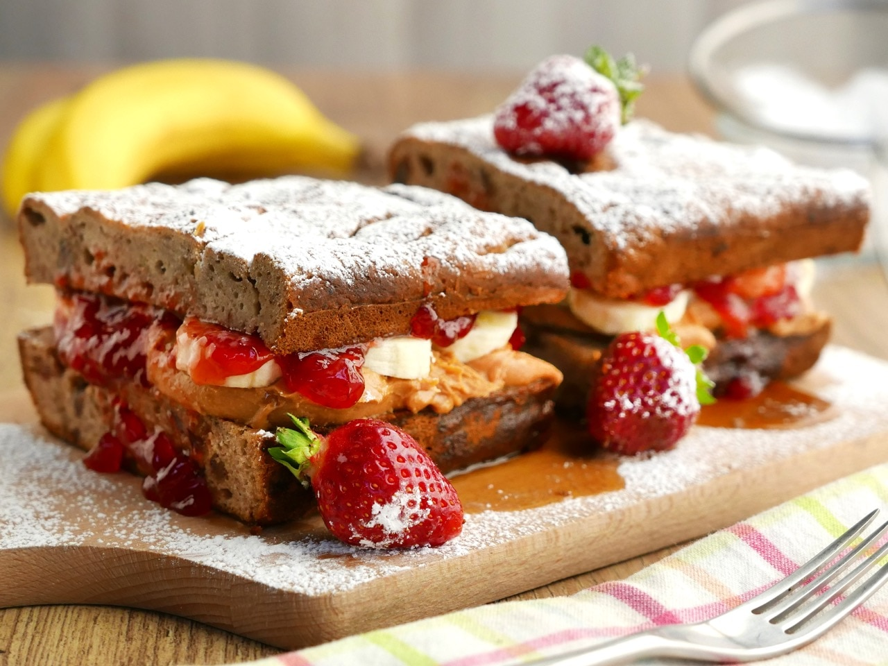 Gluten Free Banana Bread Sandwiches