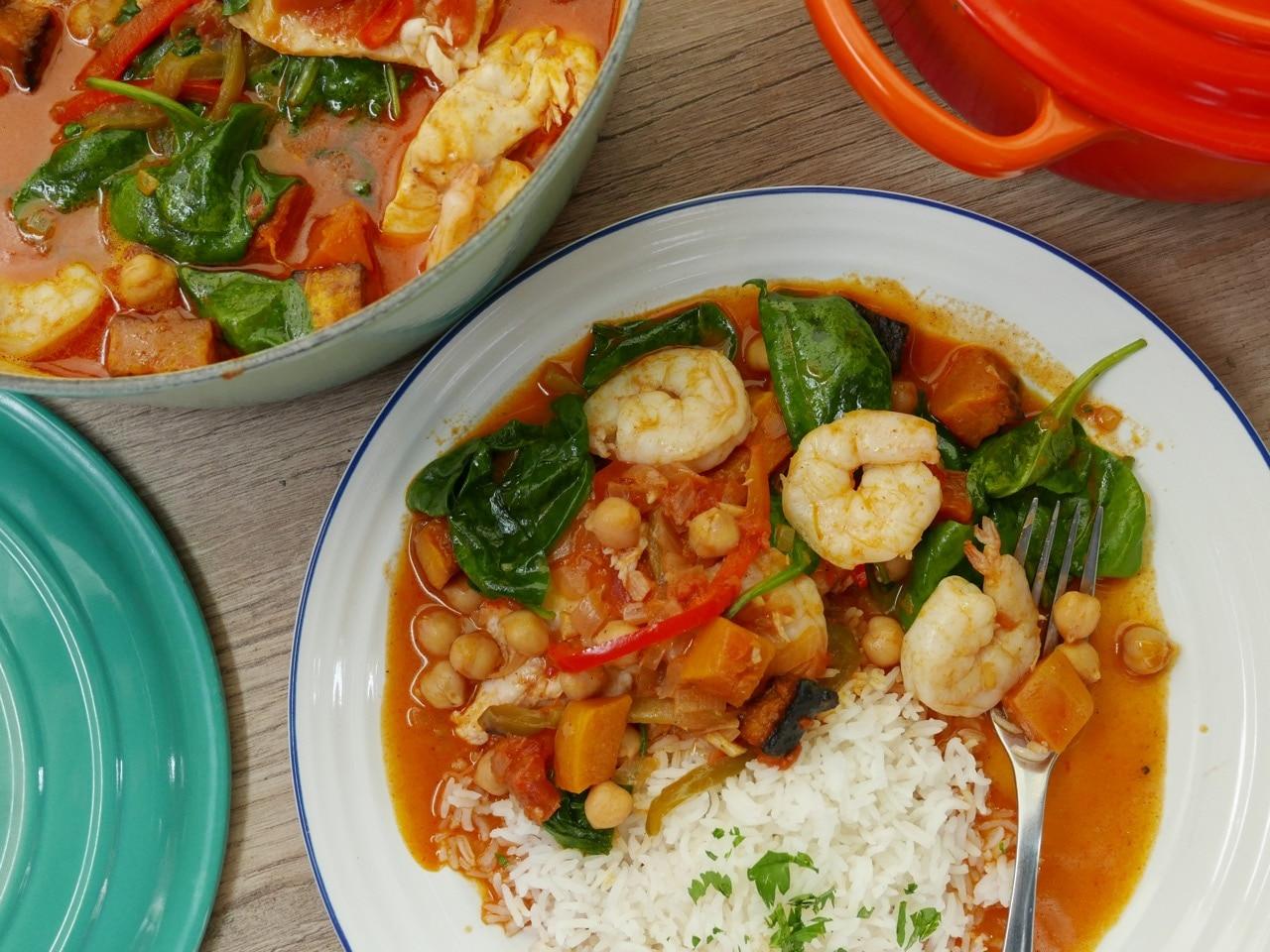 Seafood & Squash Creole