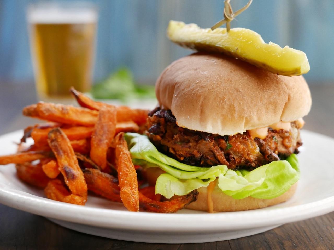 simon rimmer vegan burger