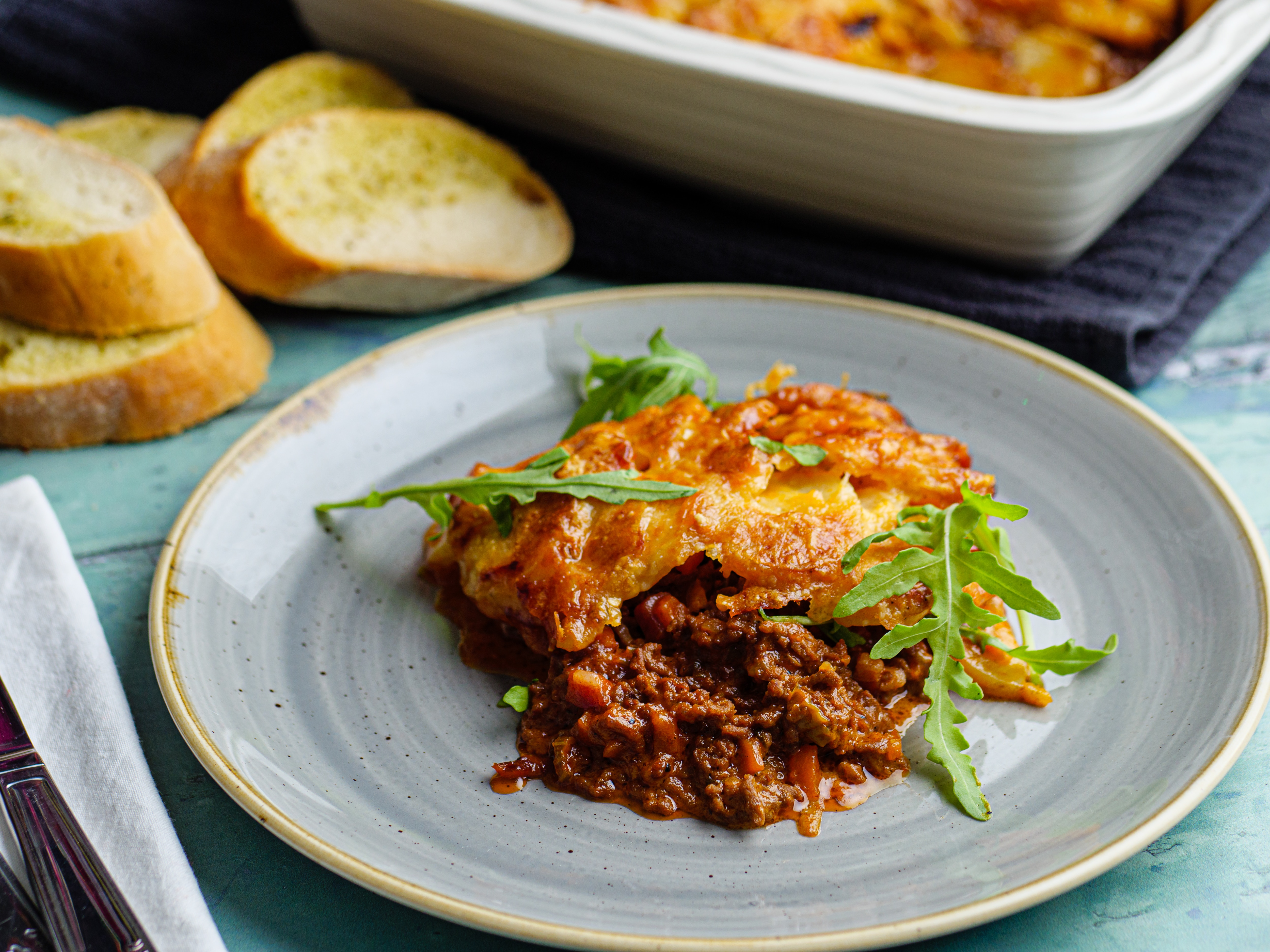 Creamy Minced Beef With Cheesy Spuds