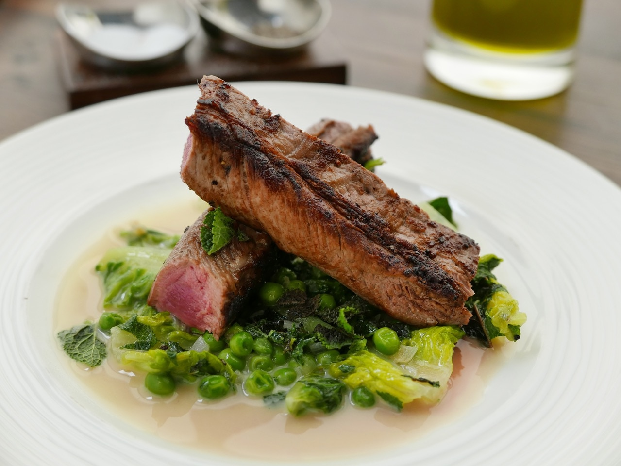 Lamb with Lettuce and Peas