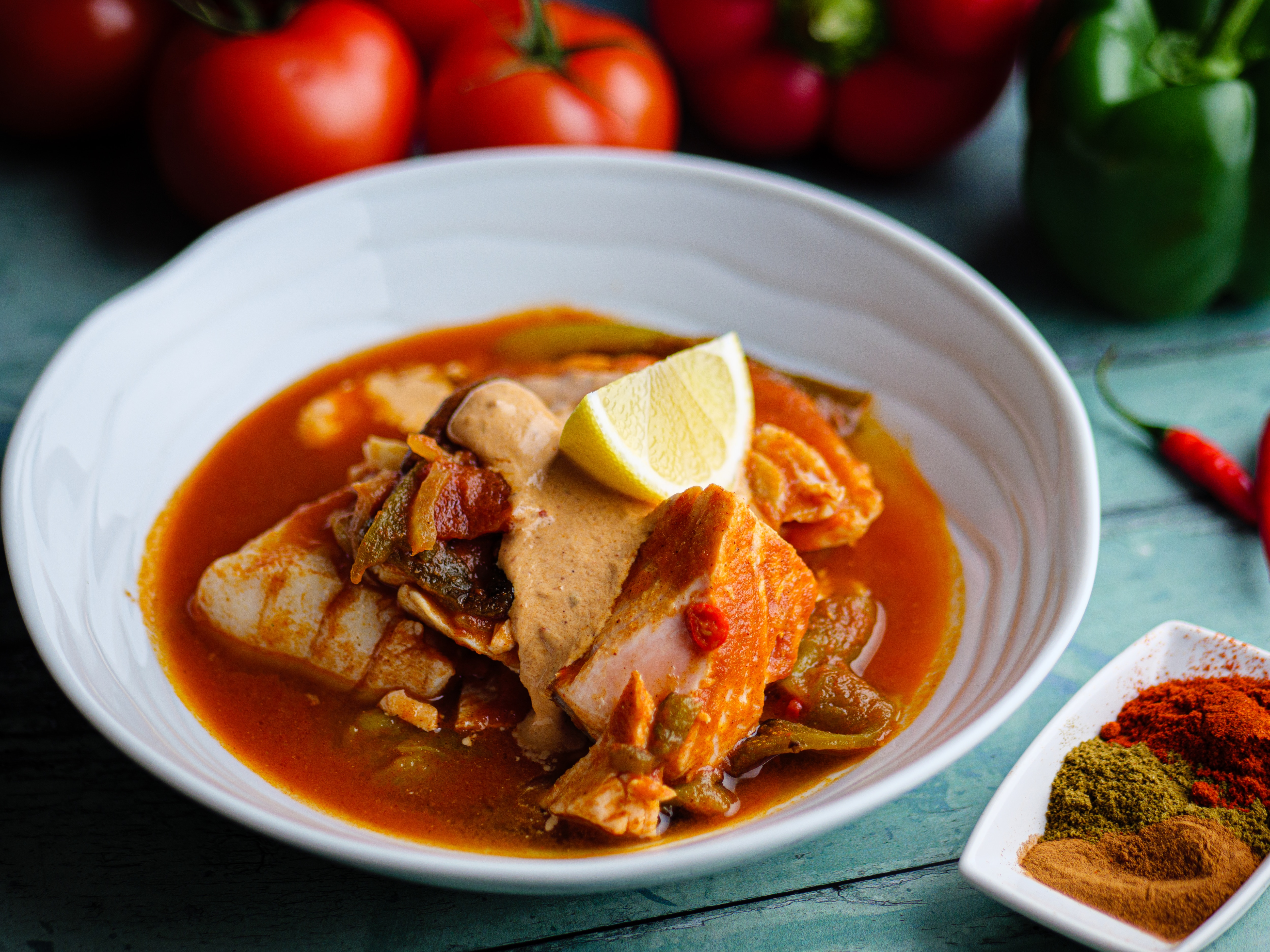 Spiced Fish and Pepper Stew