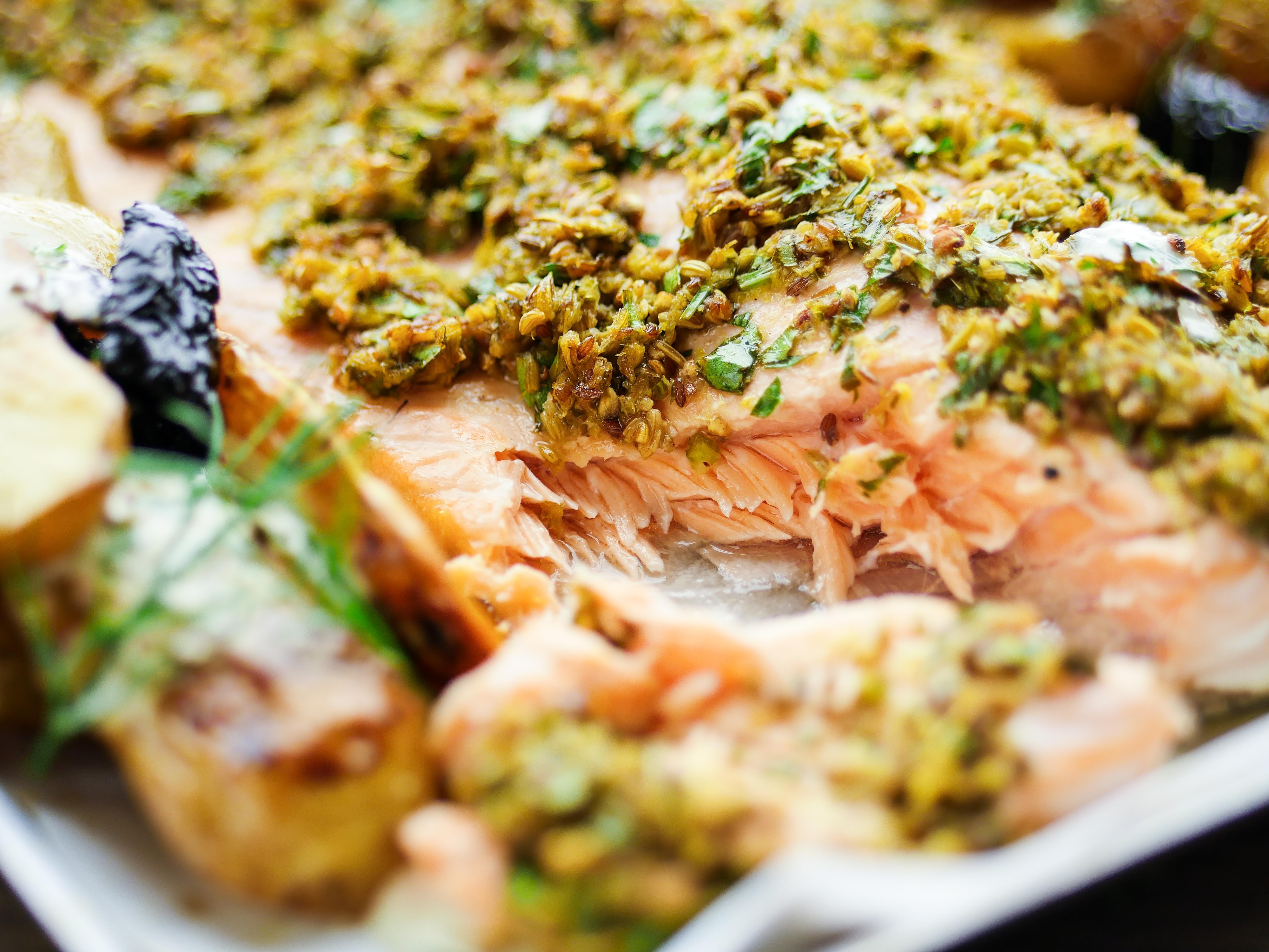Dill Crusted Salmon