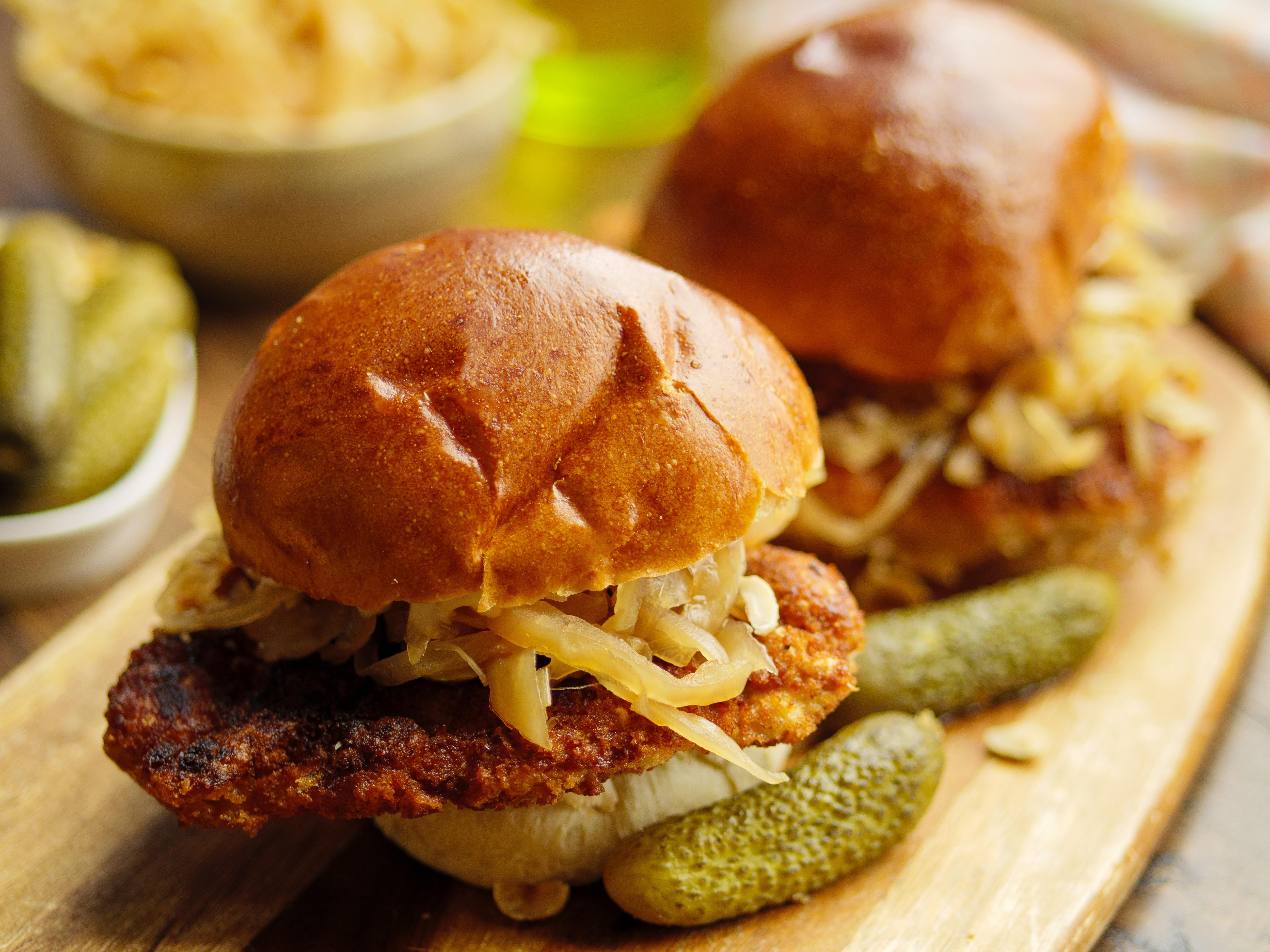 Pork Schnitzel Burger
