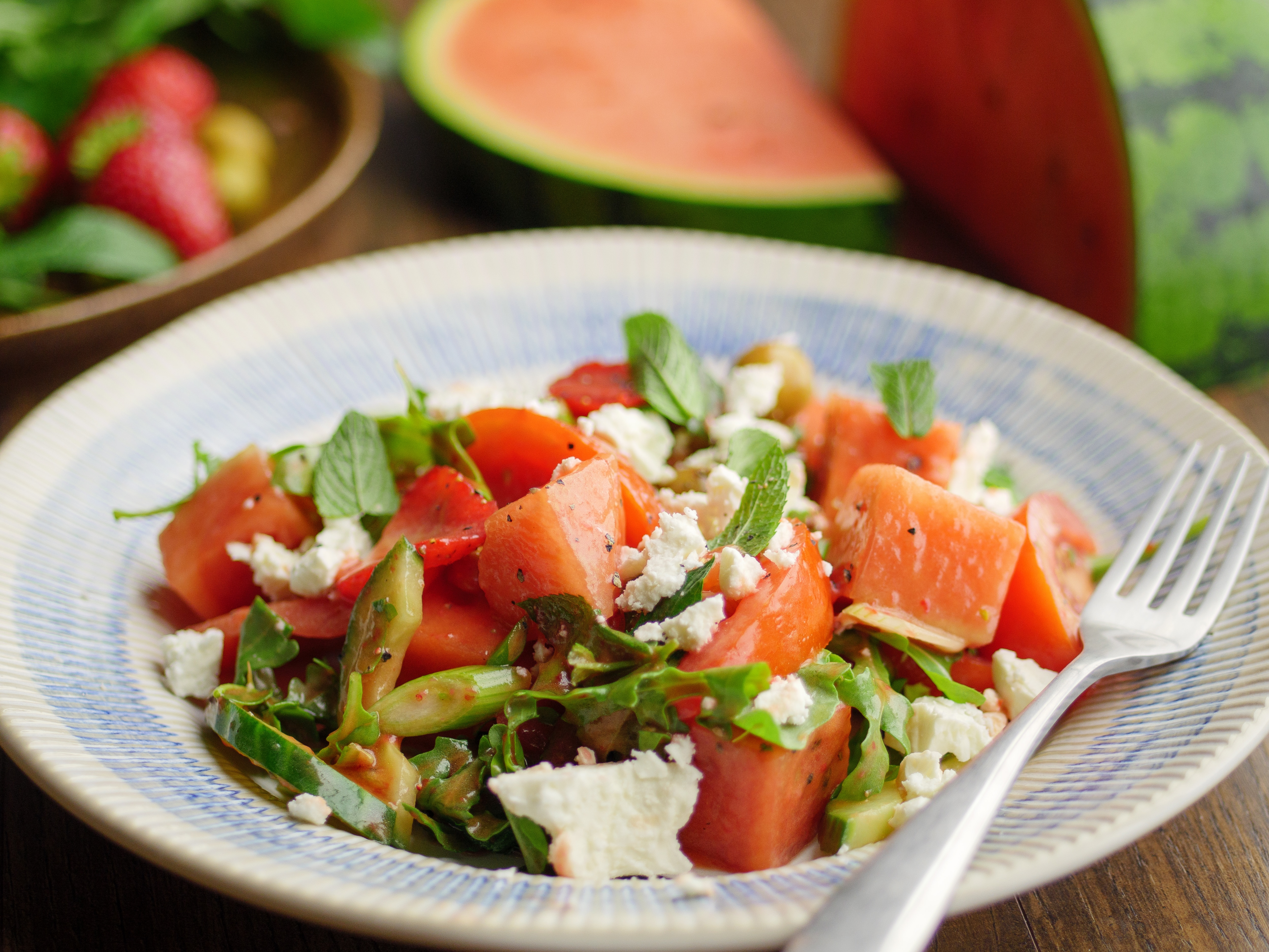 Watermelon And Strawberry Salad