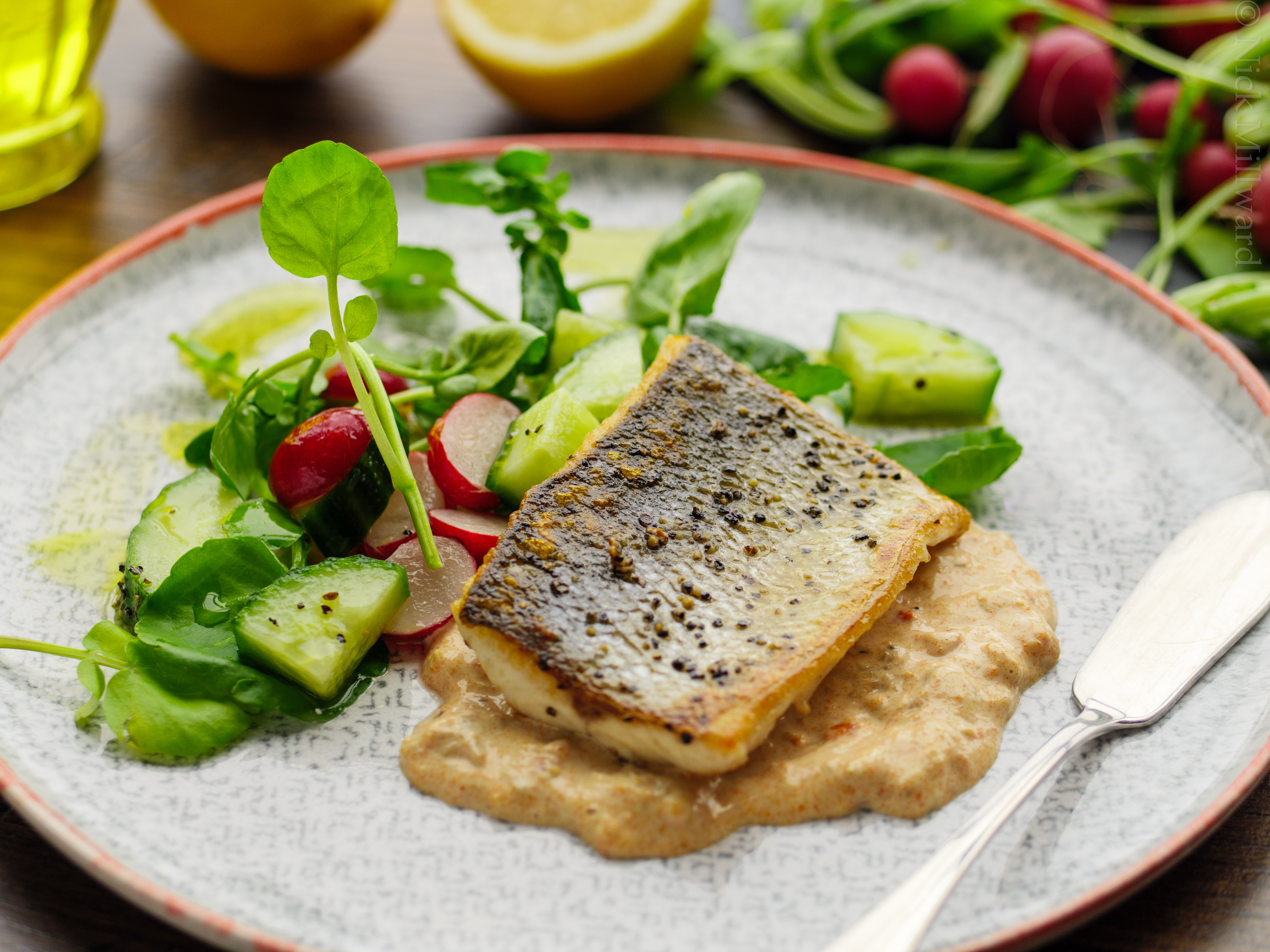 Sea Bass and Crab Salad