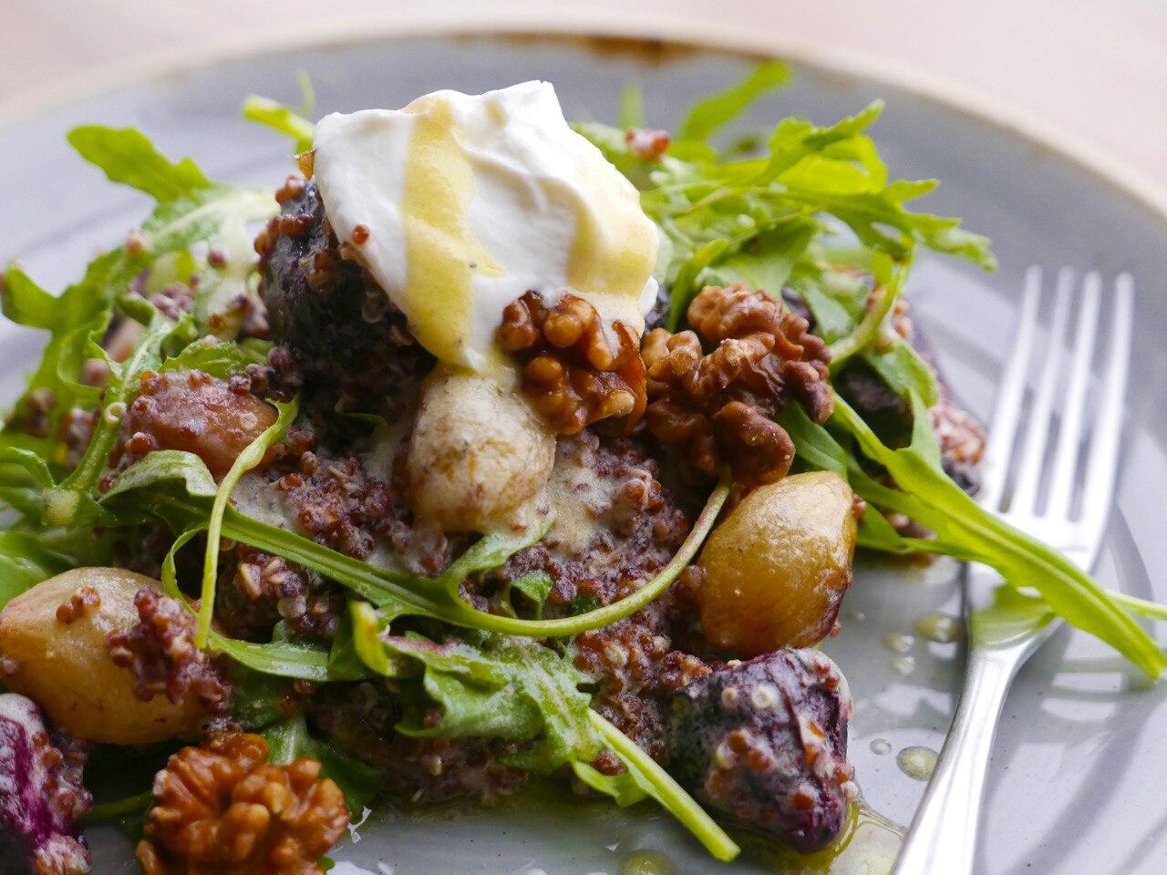 Roasted Baby Beet & Onion Salad