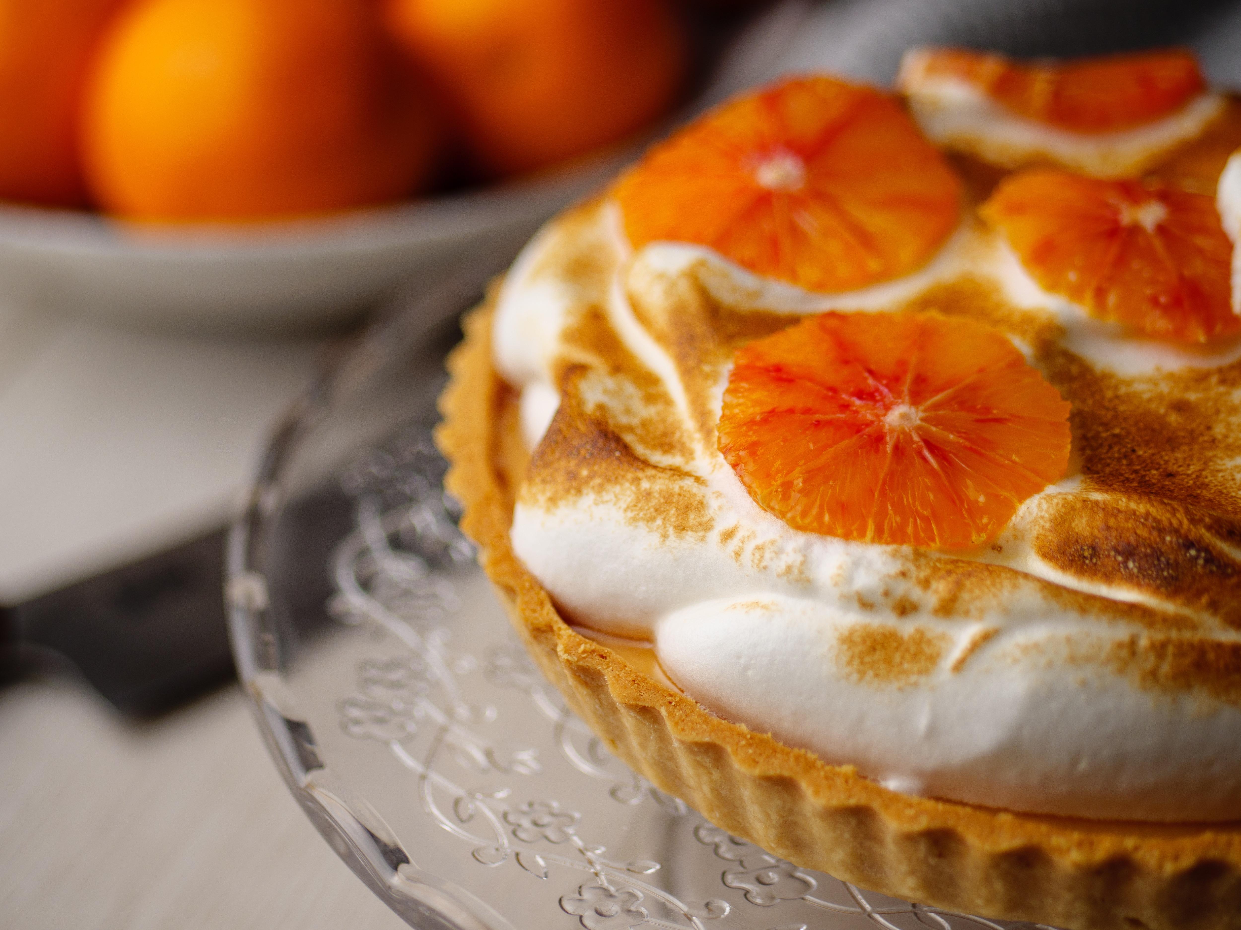 Blood Orange Meringue Tart