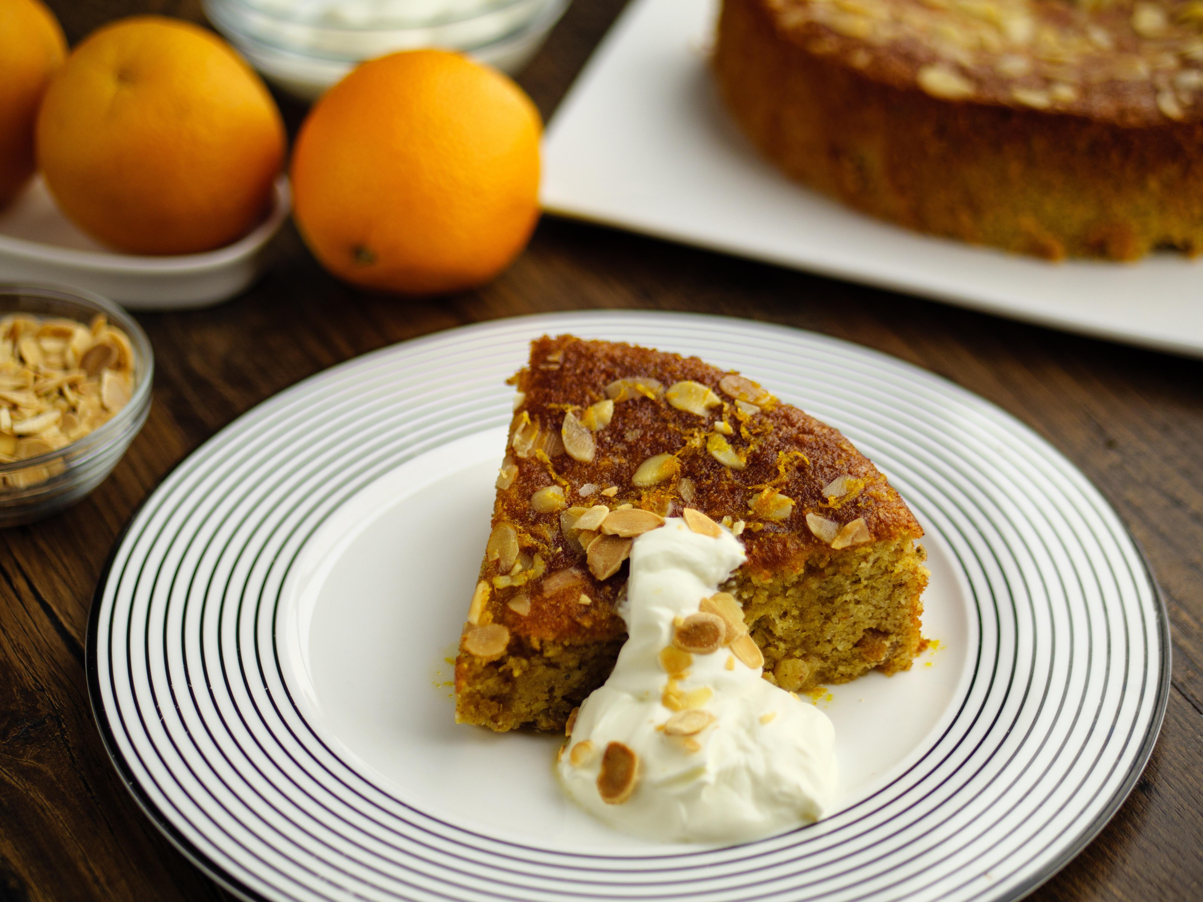 Orange, Cardamom And Raisin Cake