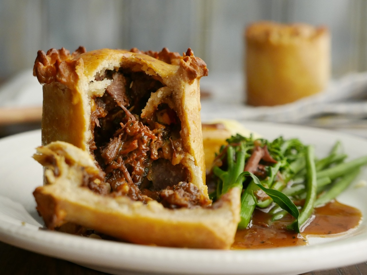 Steak and Blue Cheese Pie