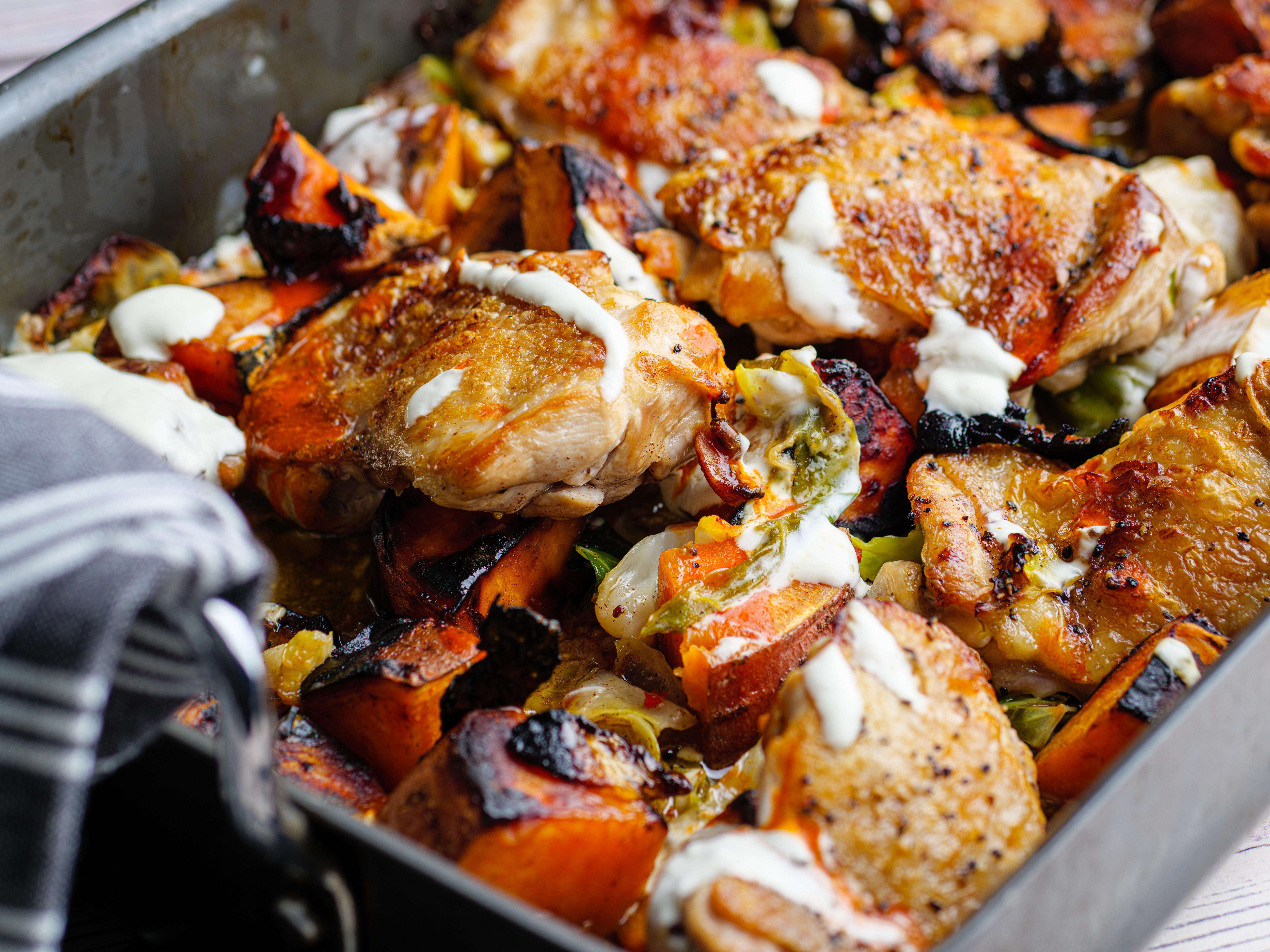 Chicken and Sweet Potato with Honey Butter
