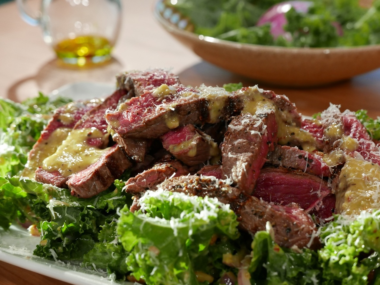 Rump Steak with Kale Salad