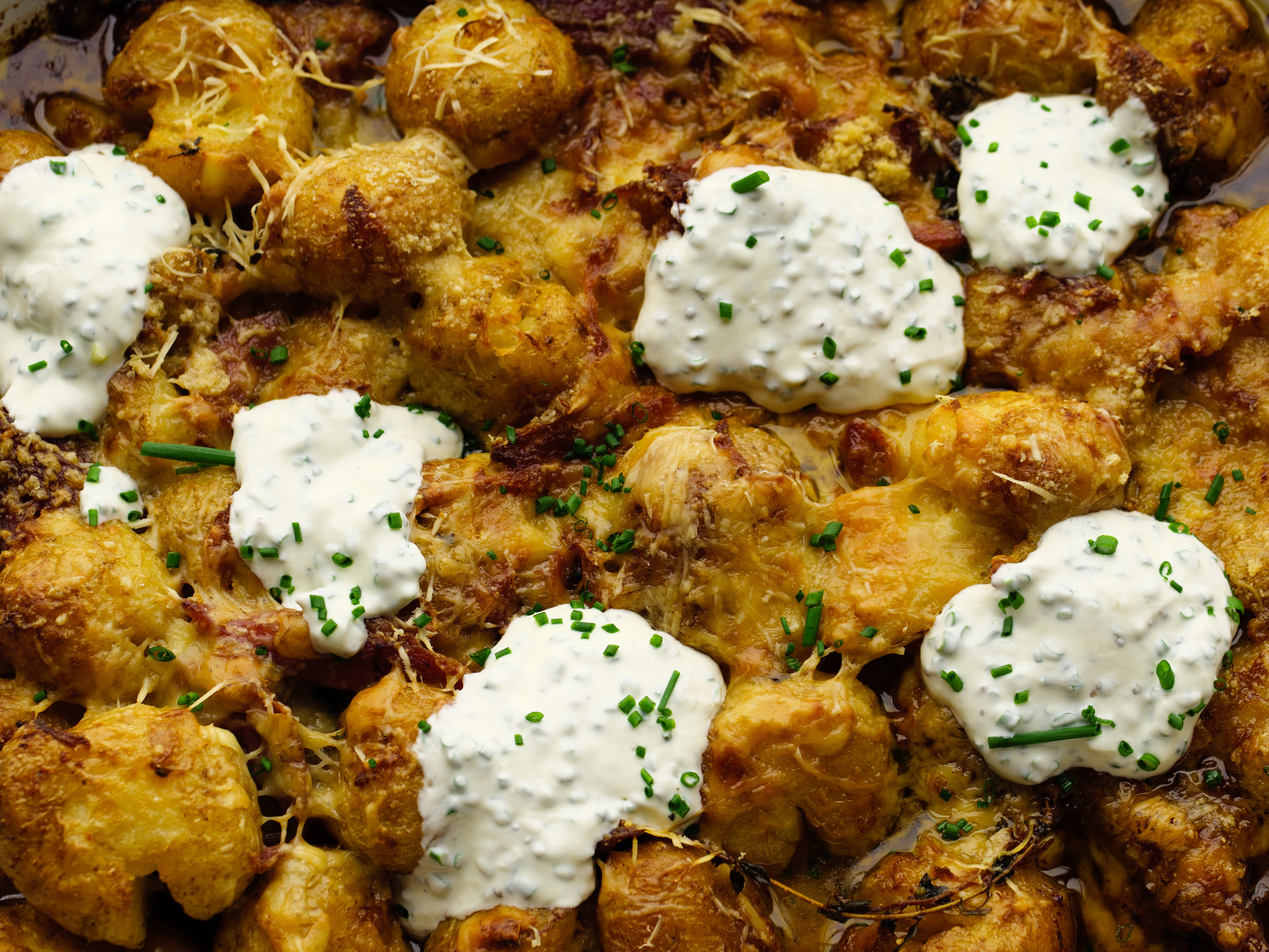 Ham And Gruyere Potato Bake