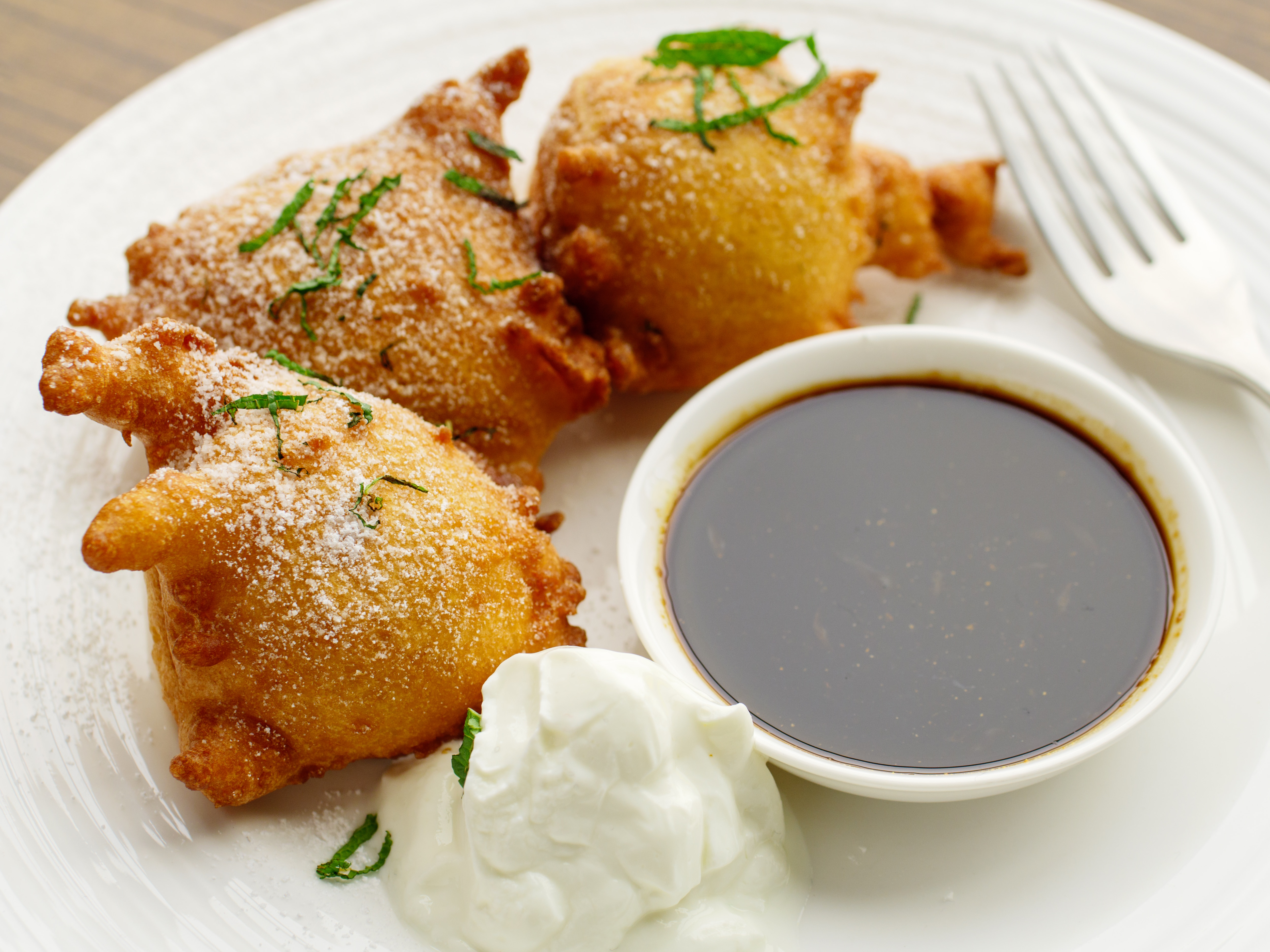 Buttermilk Fritters with Tamarind Syrup