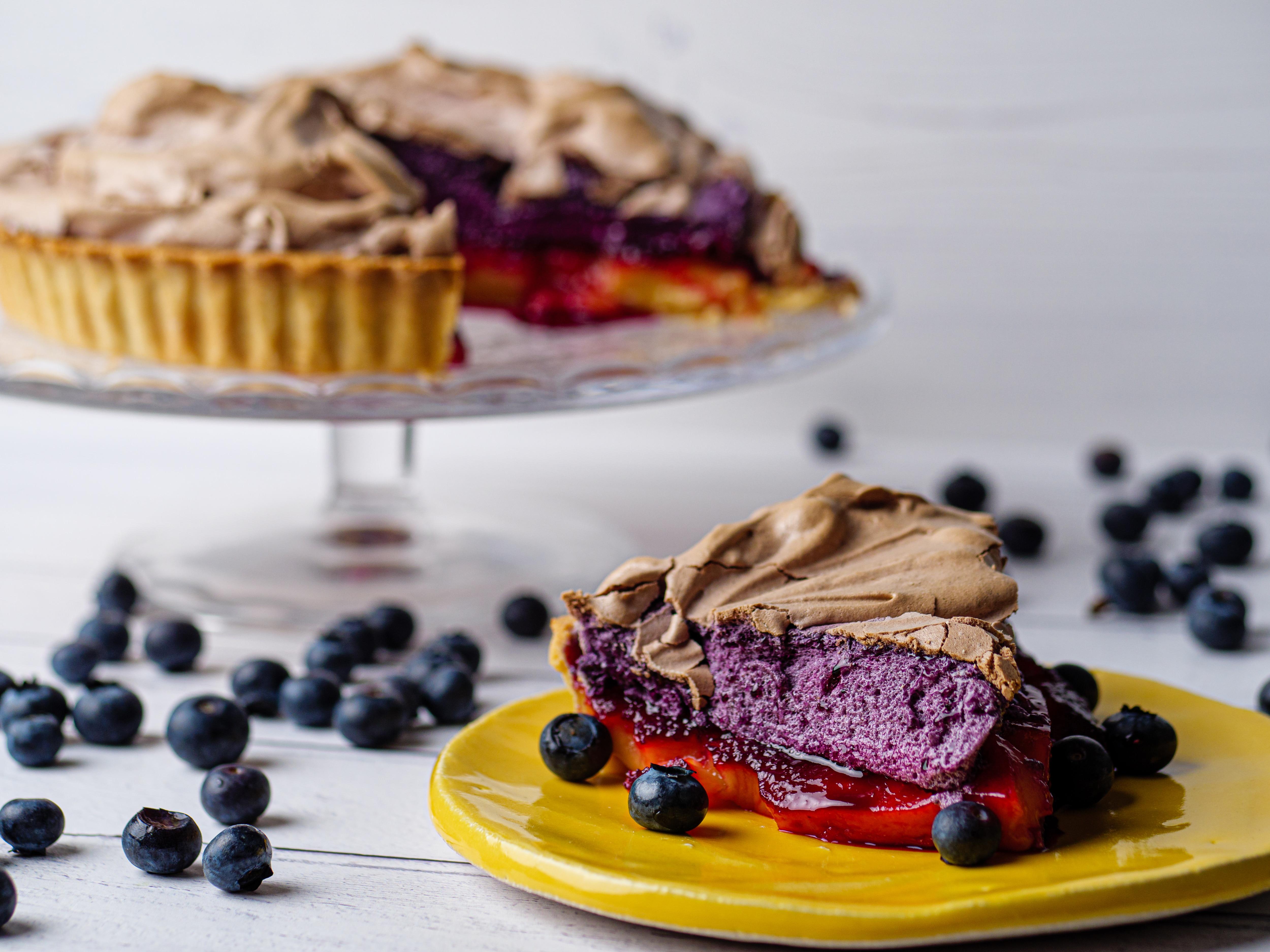 Lemon And Blueberry Meringue Pie