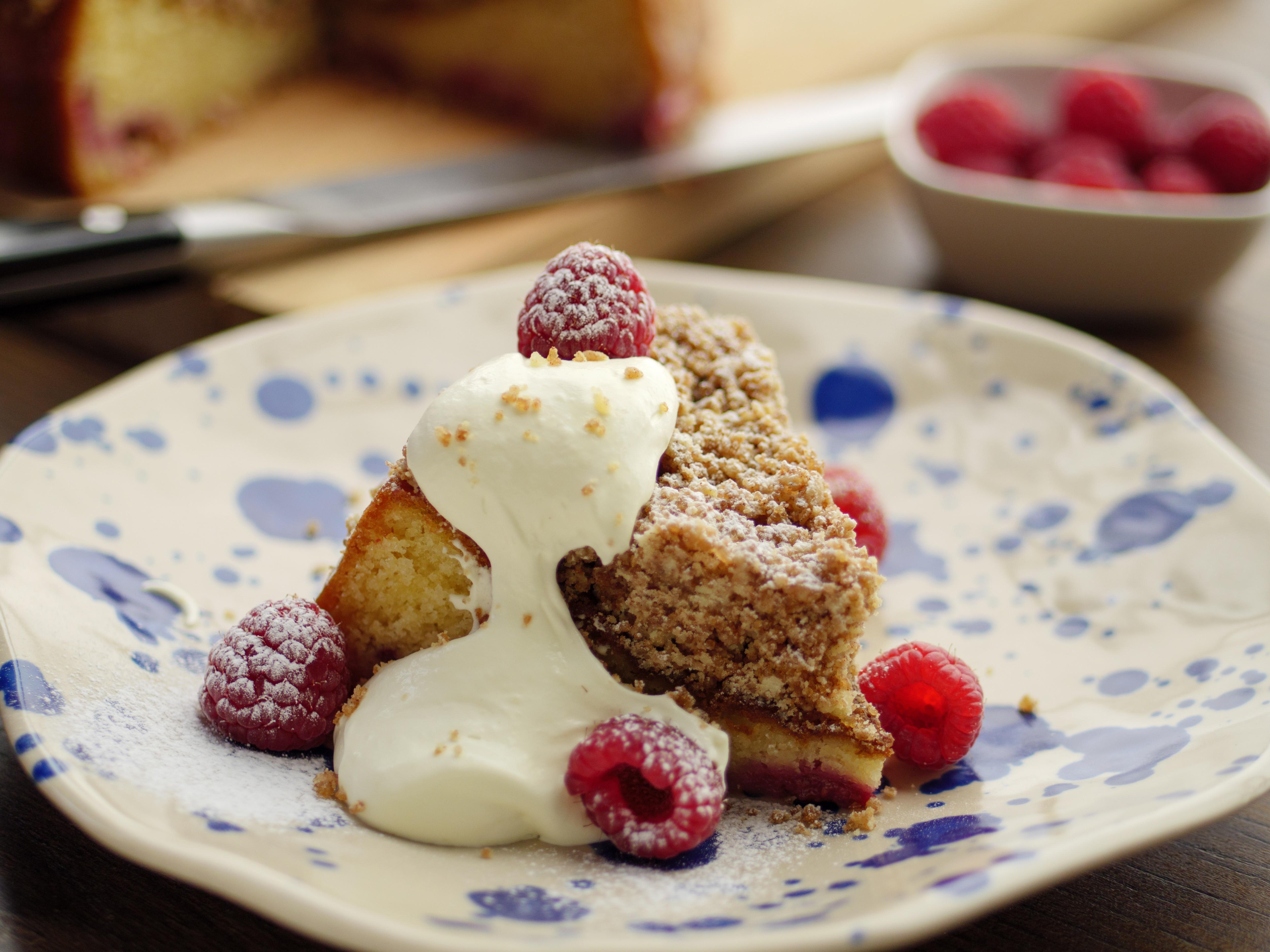 Raspberry Crumble Cake