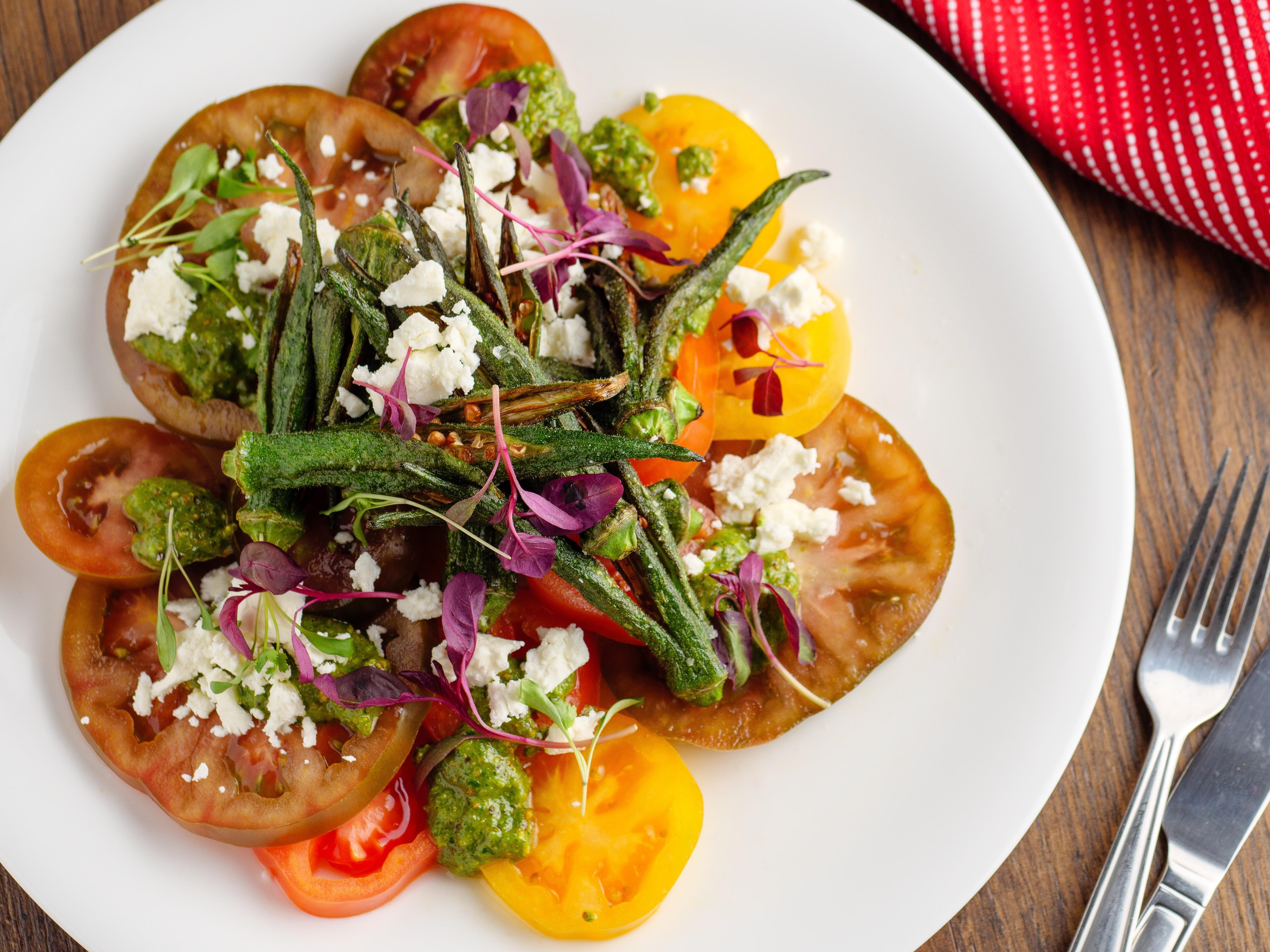 Tomato & Okra Salad