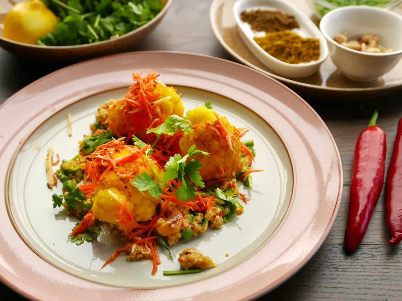 Cauliflower Biryani Salad