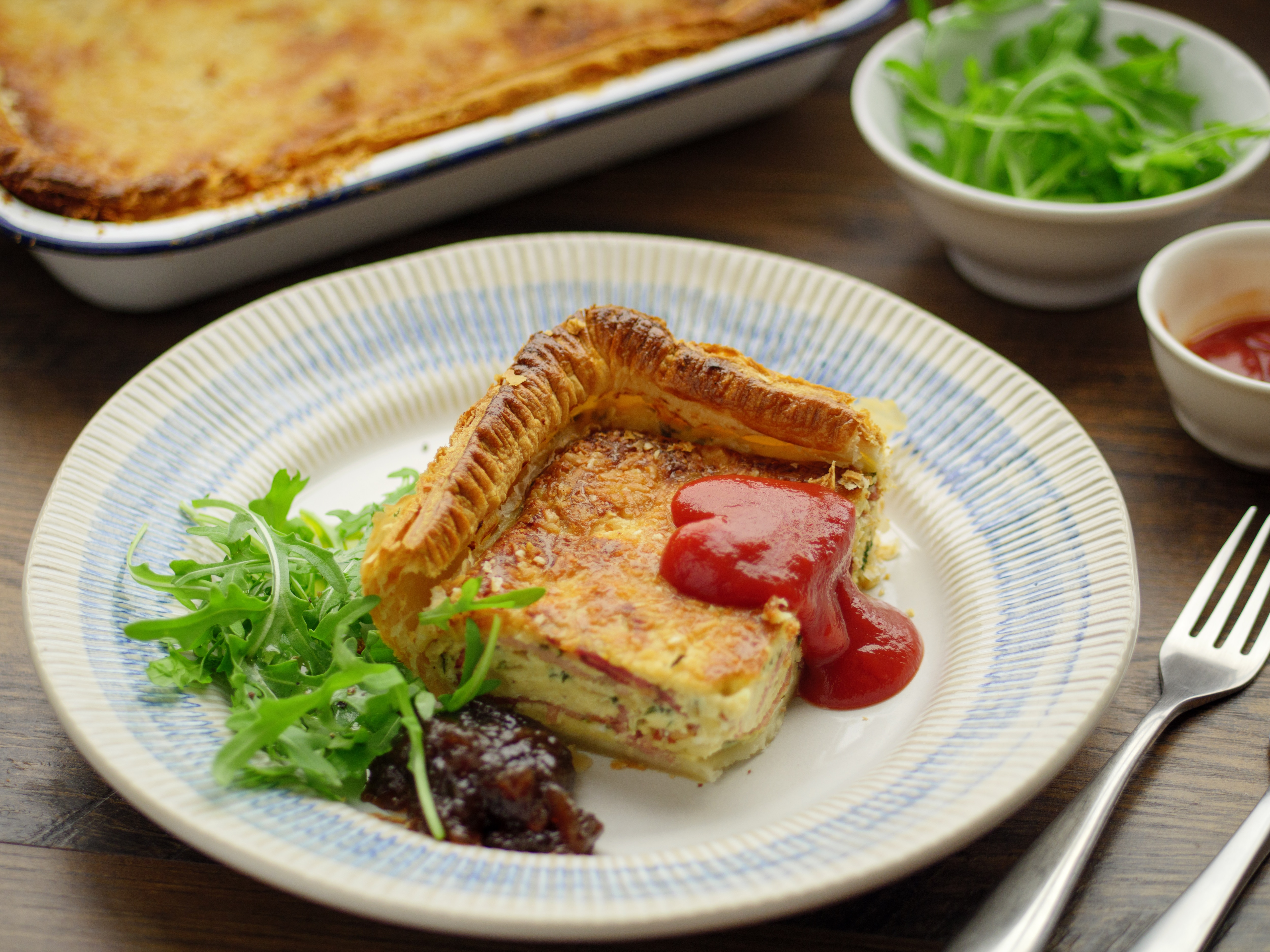 Bacon and Egg Puff Pastry Pie