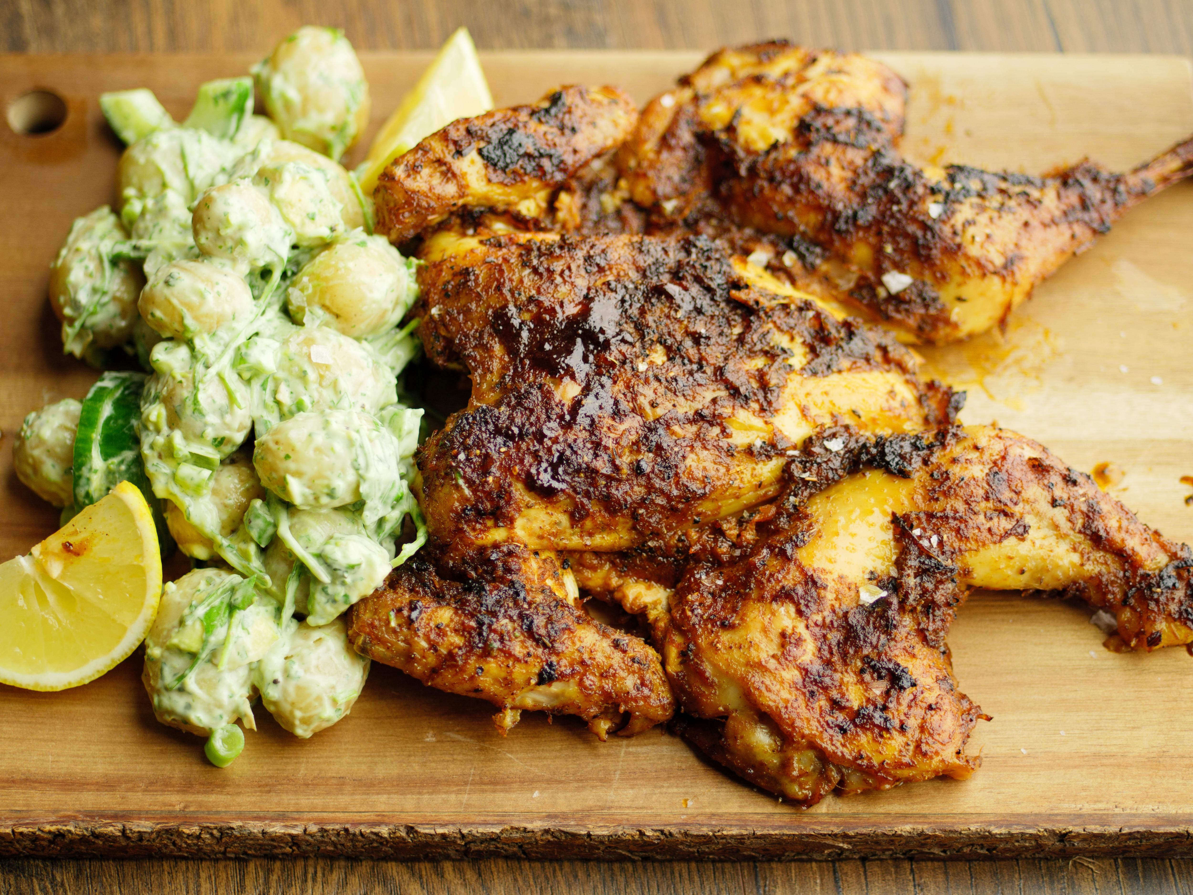 Peruvian Roast Chicken With Green Mayo