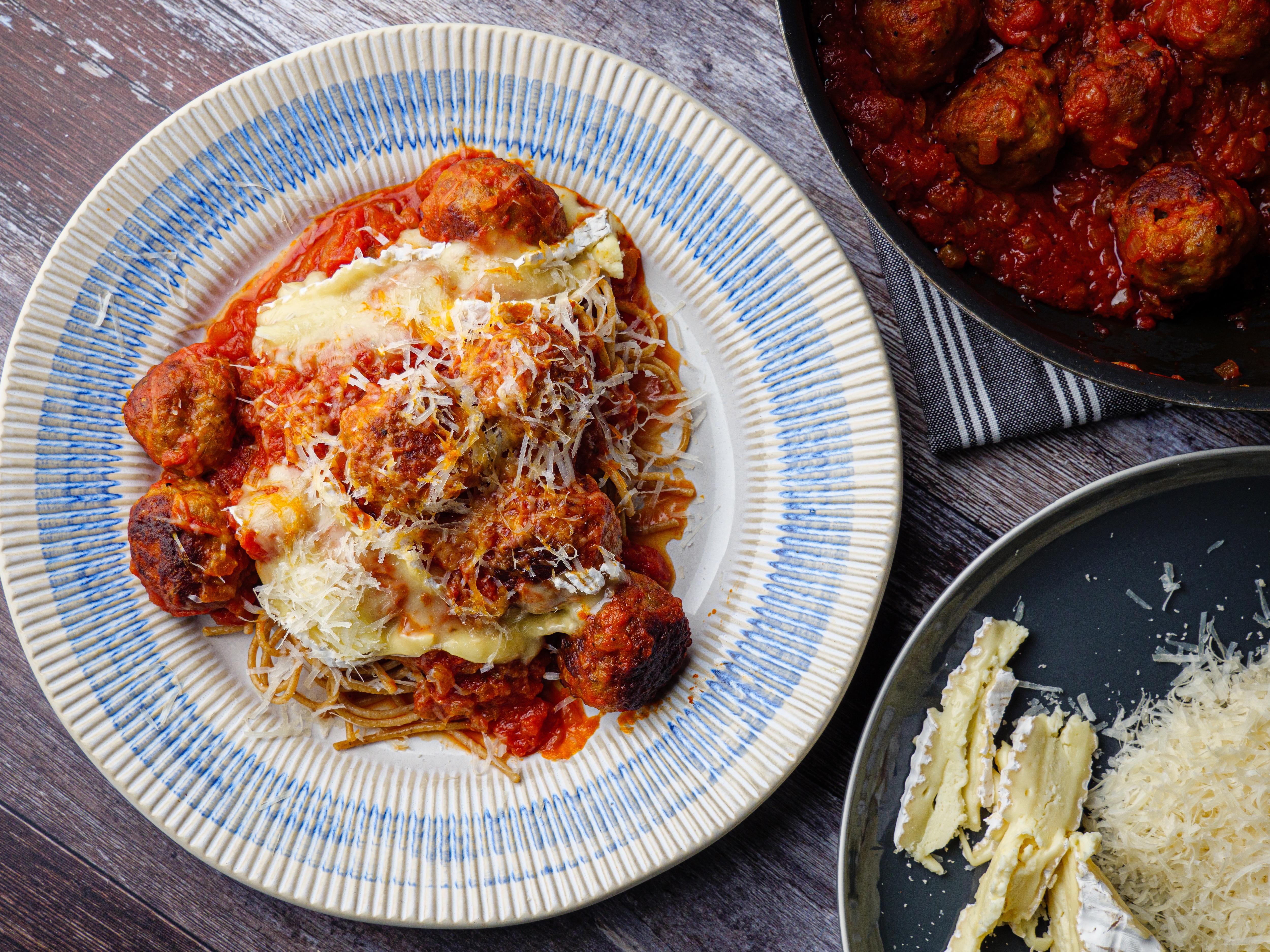 Spicy Spaghetti Meatballs