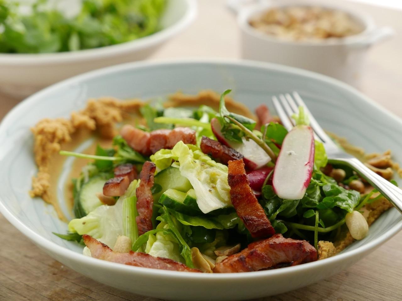 simon rimmer bacon satay salad