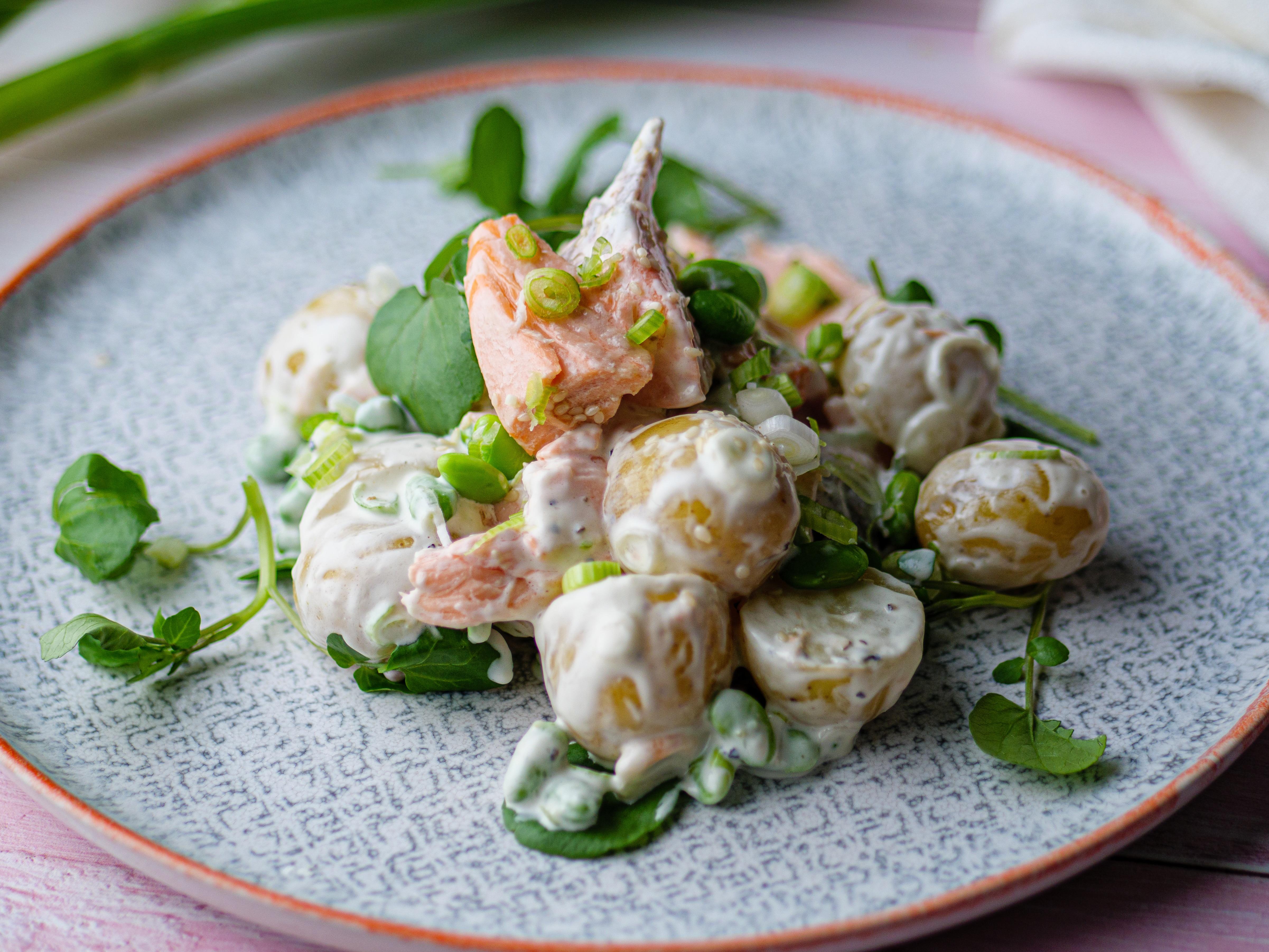 Poached Salmon and Potato Salad