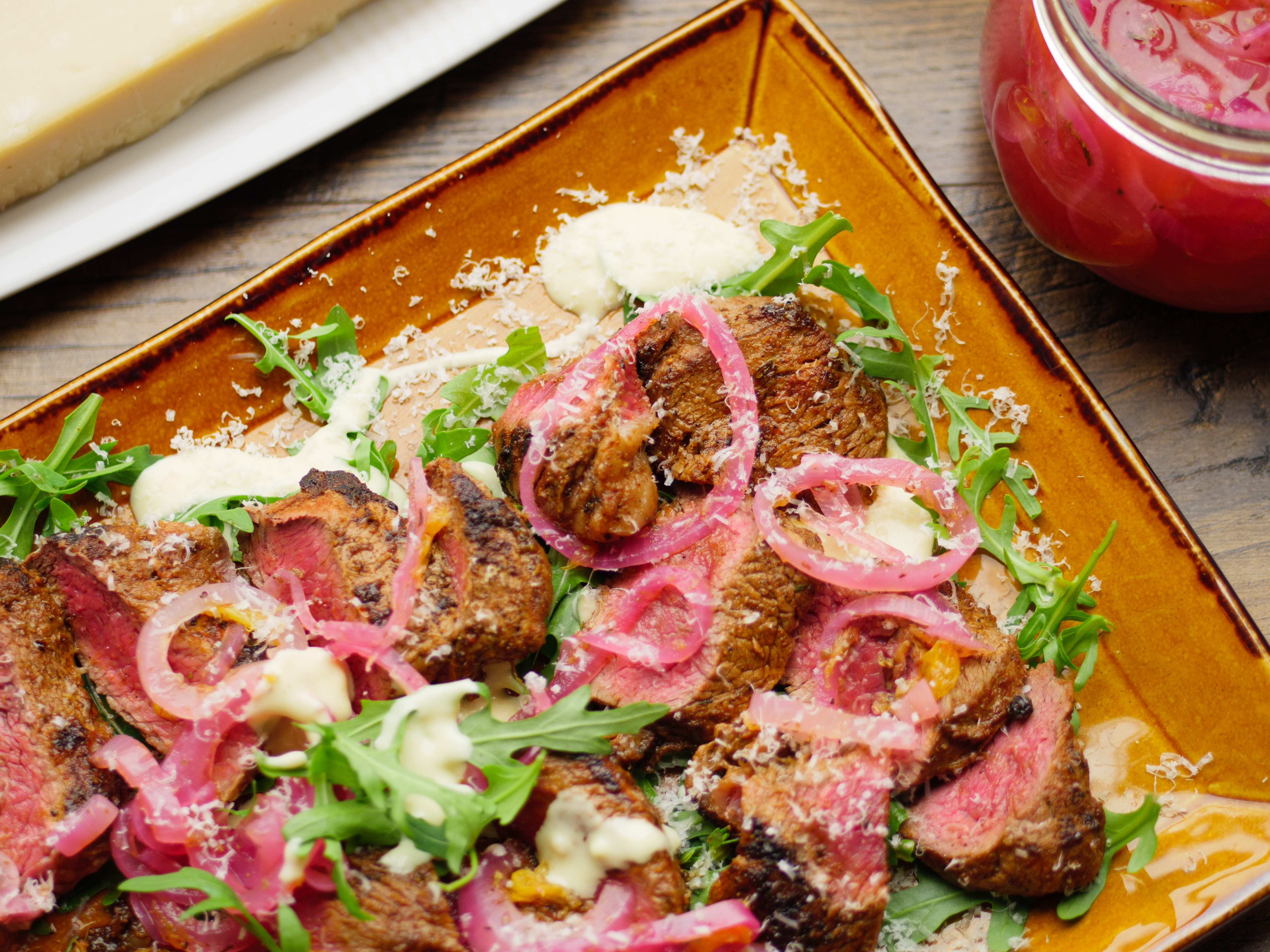 Smoky Beef and Pickled Onion Salad