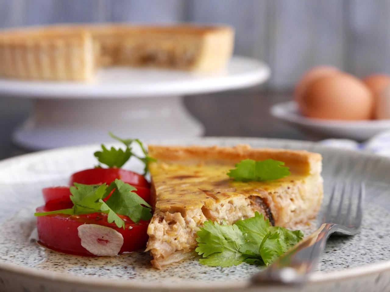 Caramelised Onion and Mustard Tart