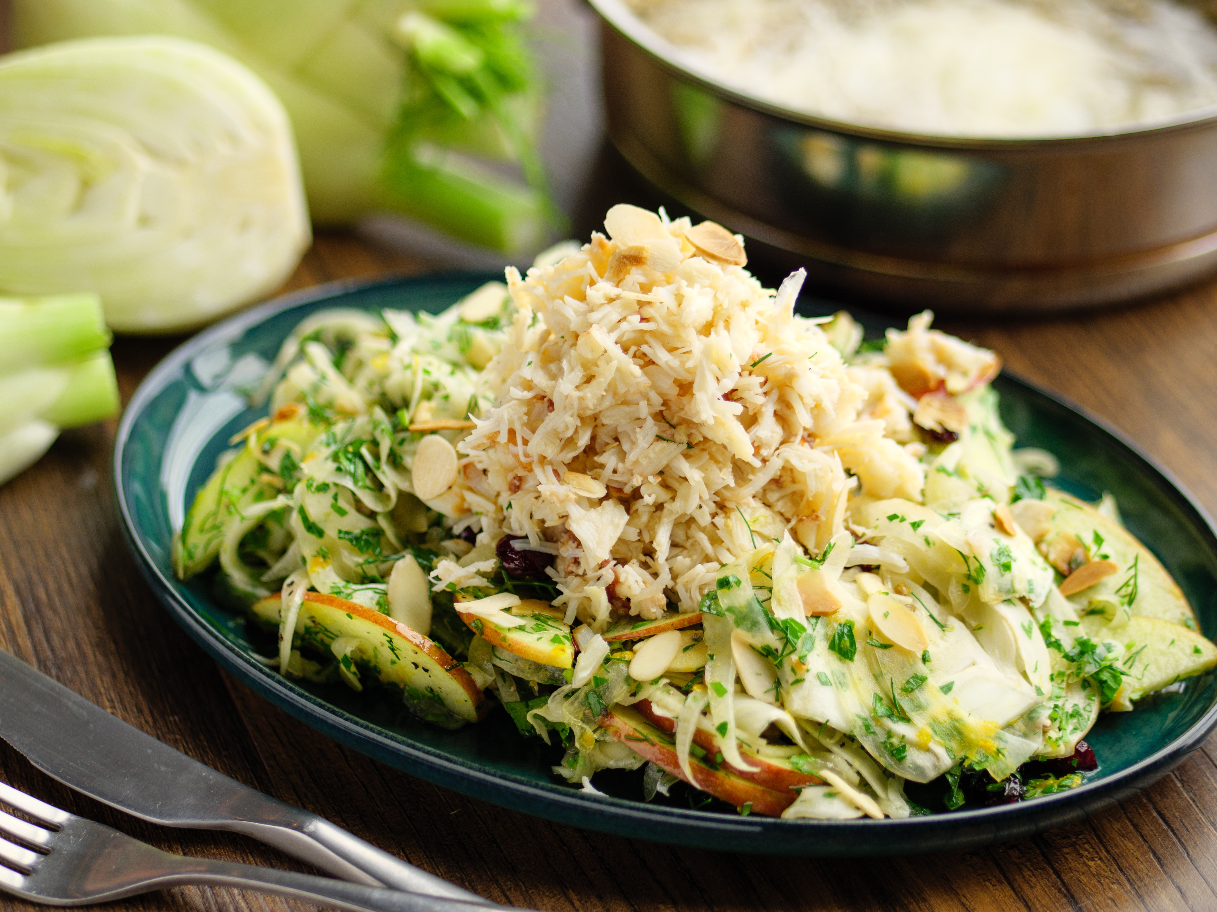 Crab And Pickled Fennel Salad