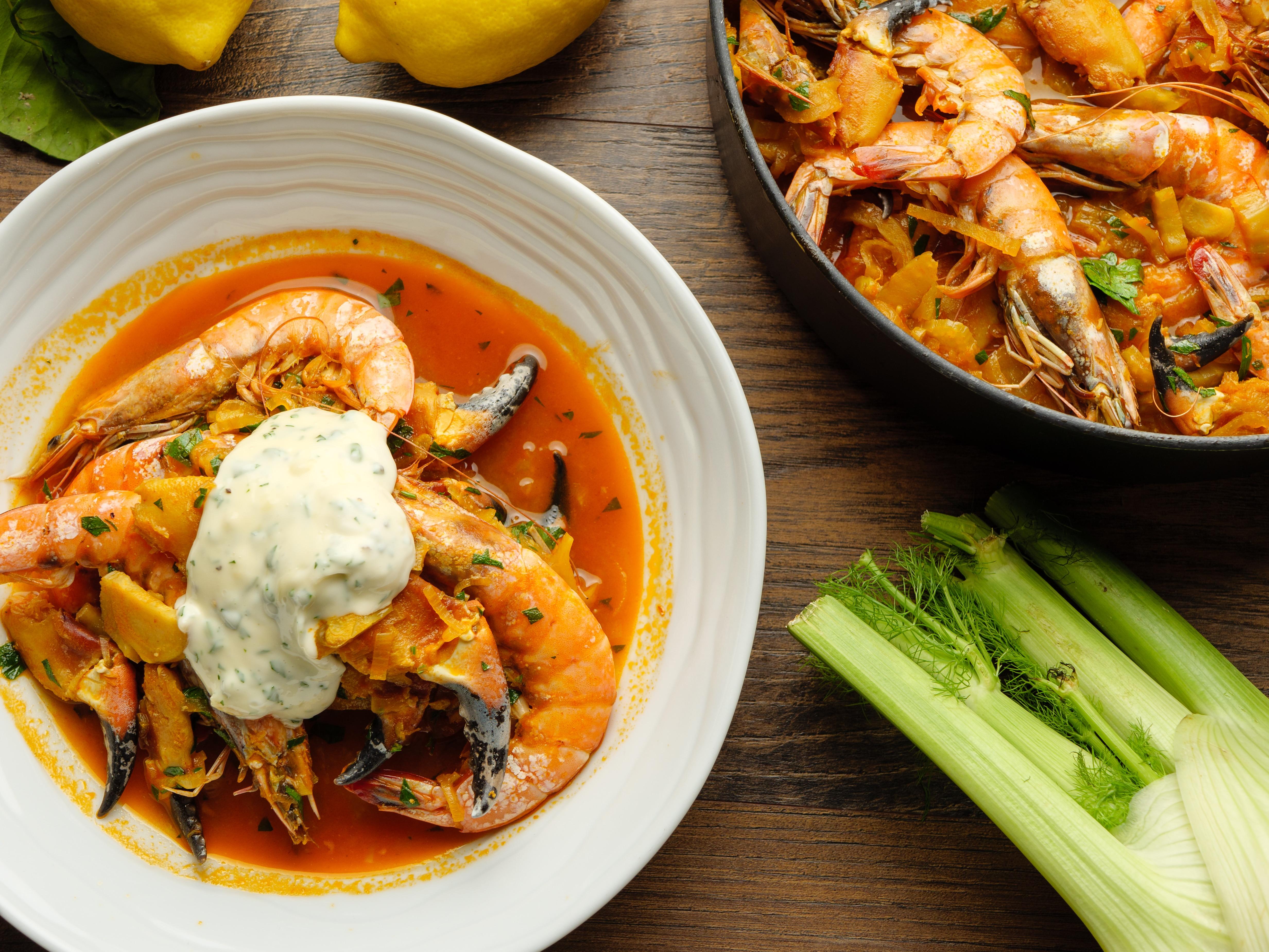 Crab & Prawn Stew