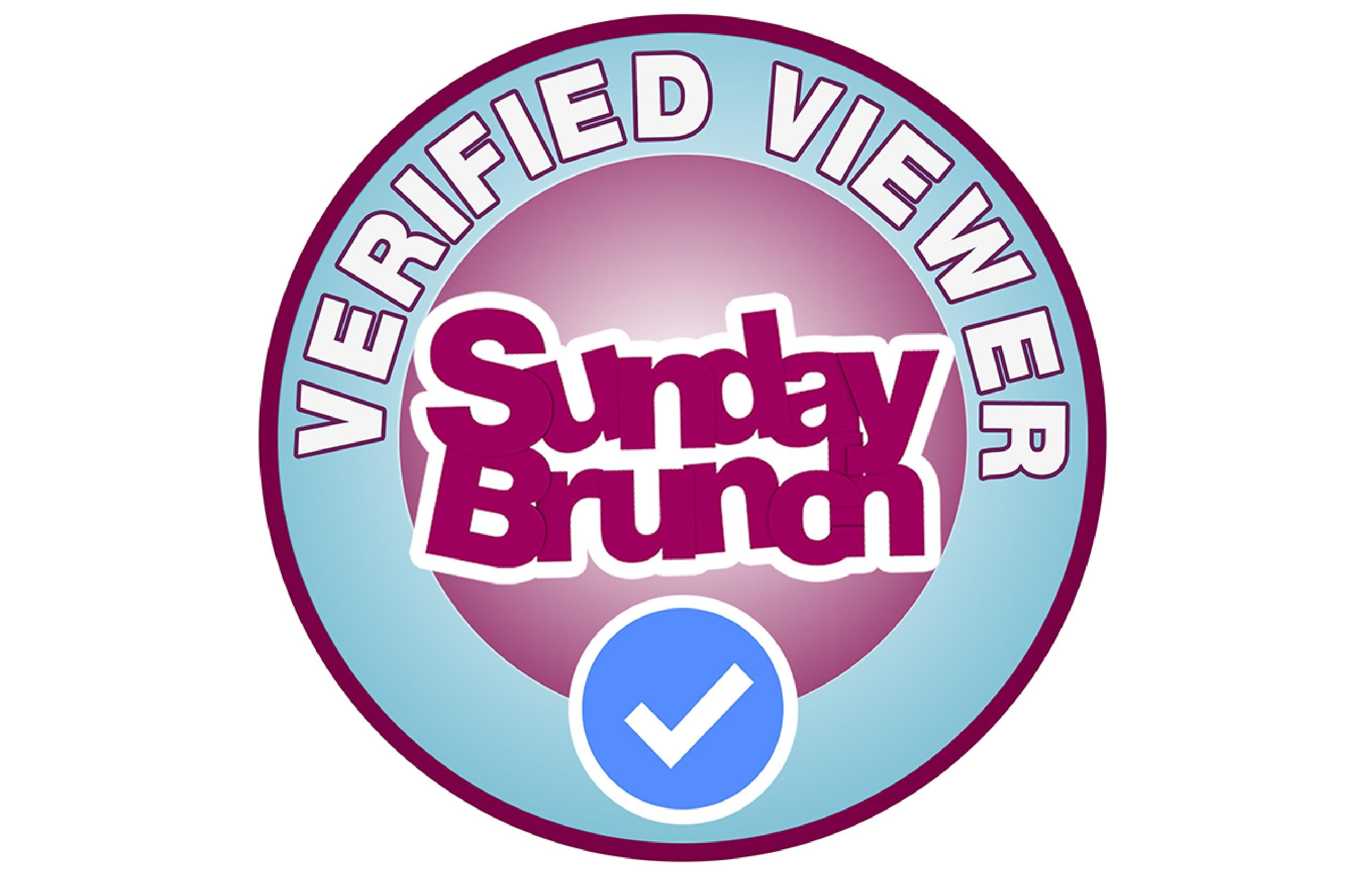 Become a Sunday Brunch Verified Viewer!