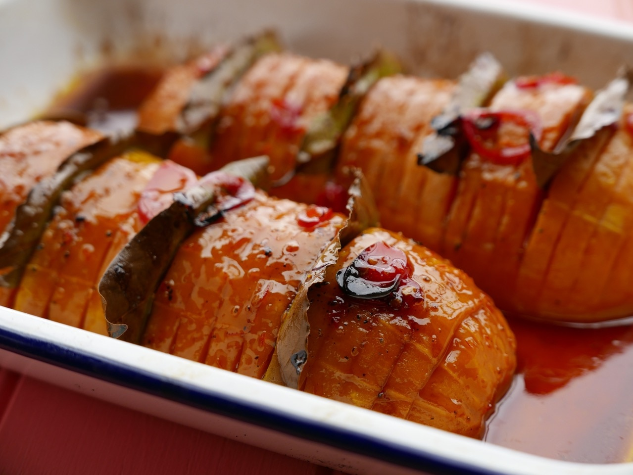 Hasselback Butternut Squash with Chilli