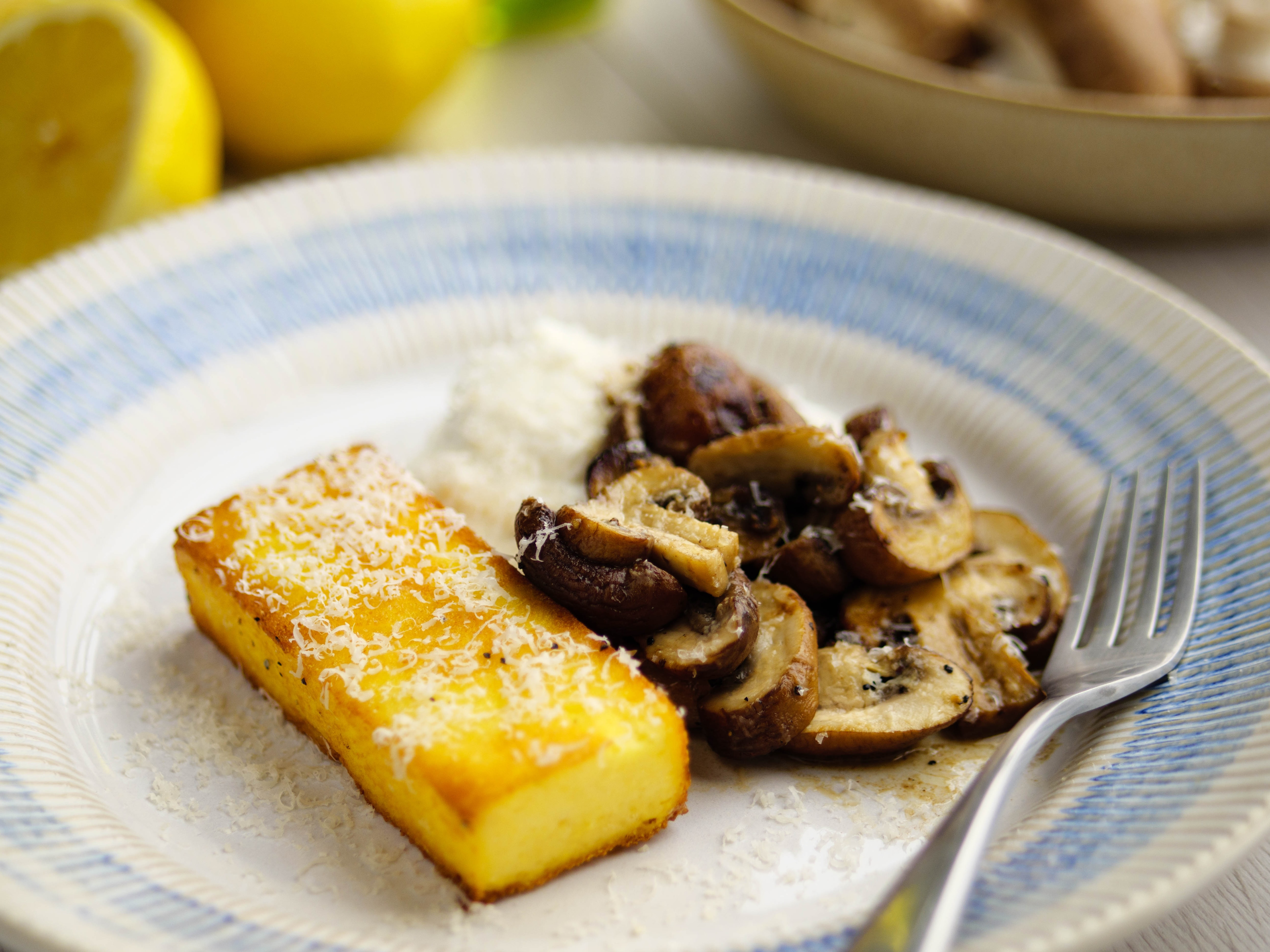 Polenta with Ricotta and Mushrooms