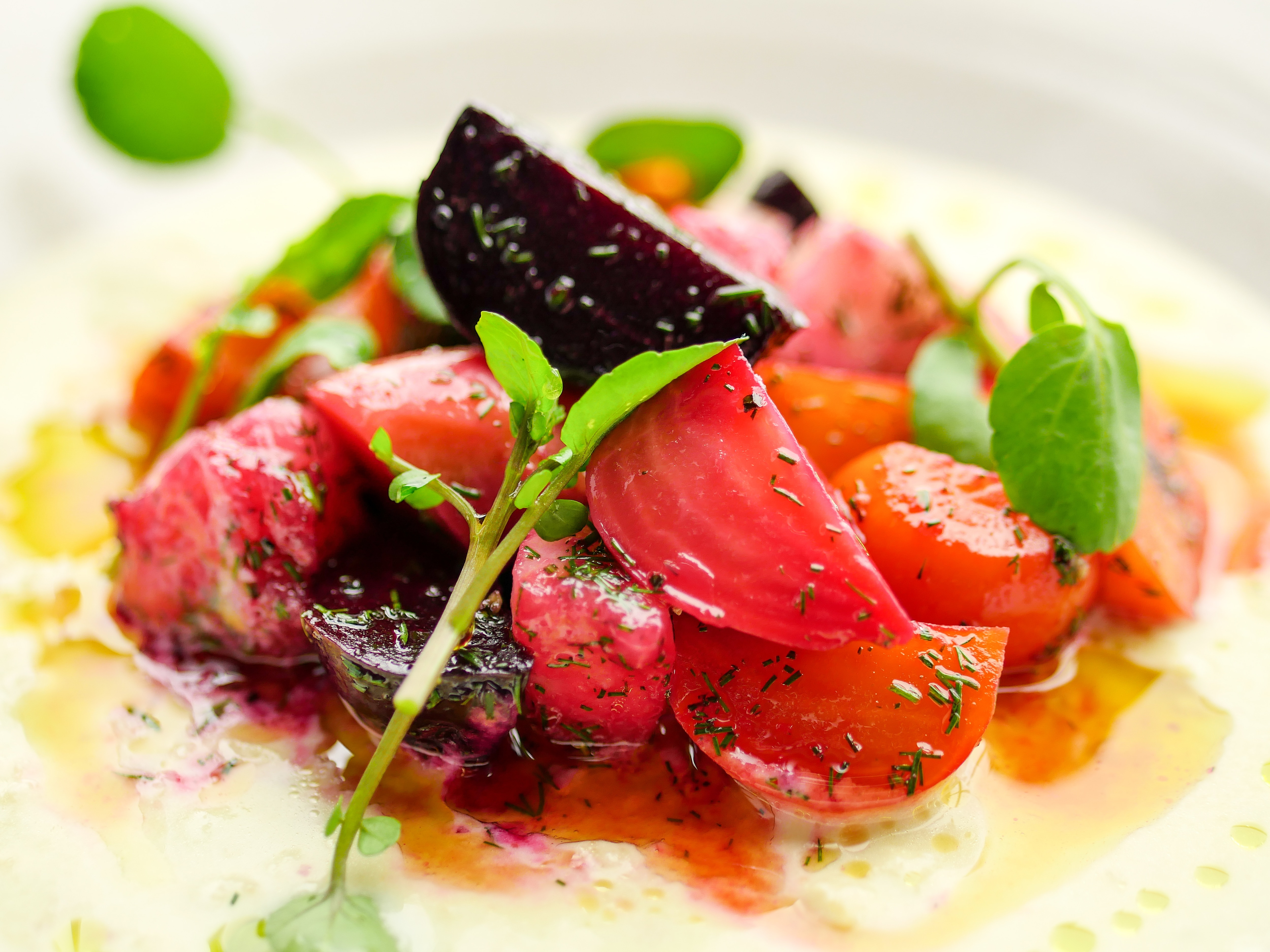 Beetroot Salad with Ajo Blanco & Dill Vinaigrette