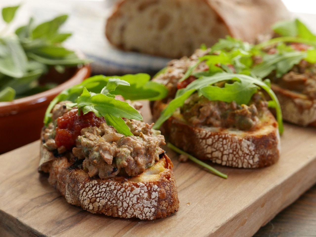 Tuscan Style Chicken Livers on Toast