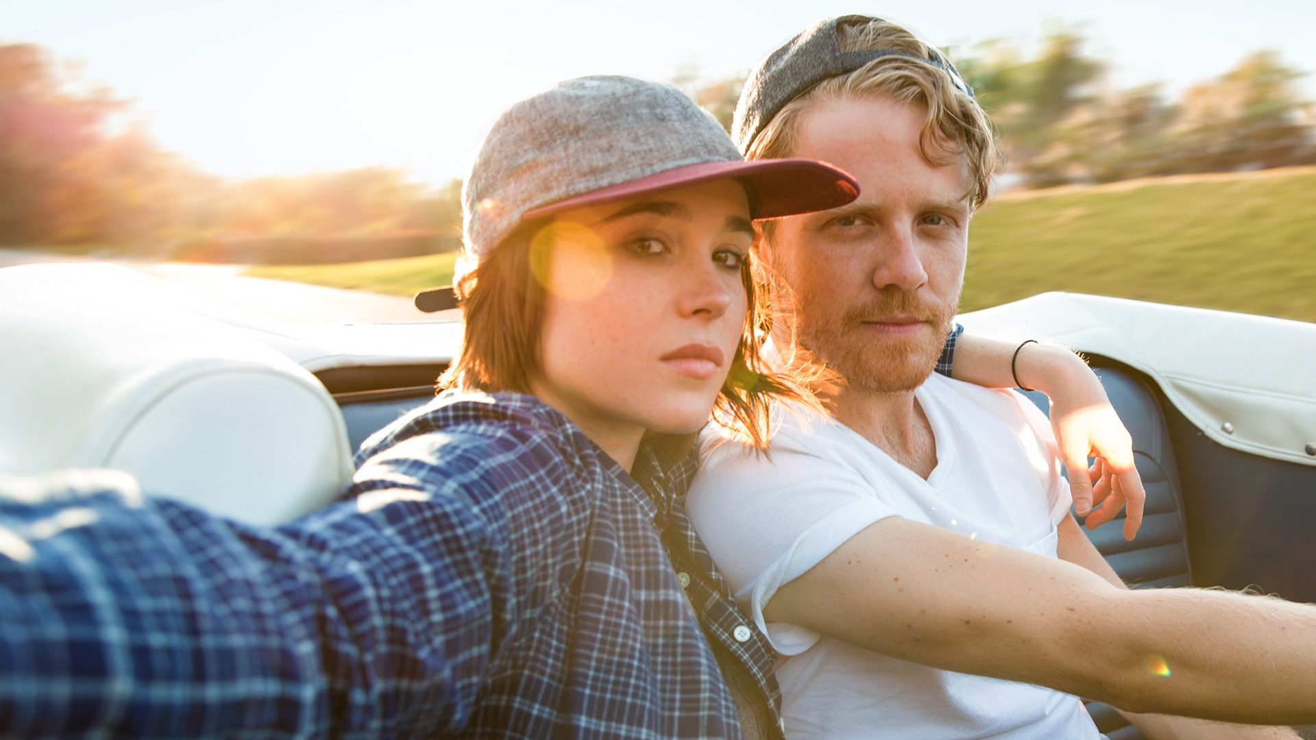 Ellen Page and Ian Daniel pose