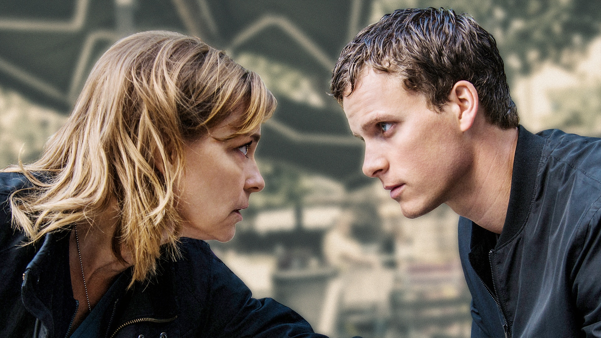 Two characters stare intensely at each other