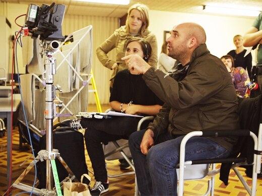 Shane on set