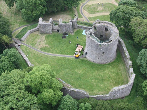 Dundrum Castle from above